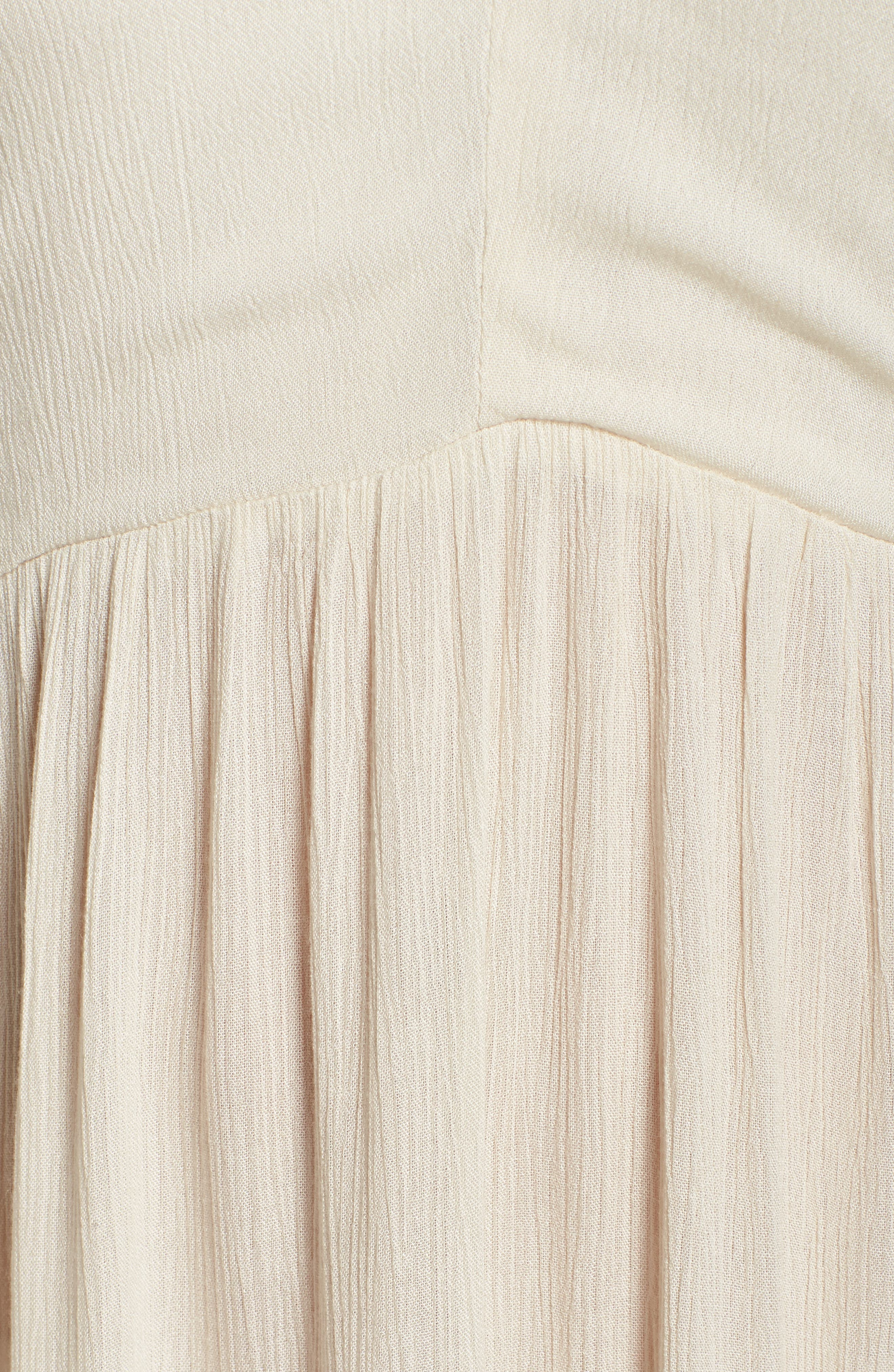 Midi Tie Back Cover-Up Dress,                             Alternate thumbnail 5, color,                             Stone