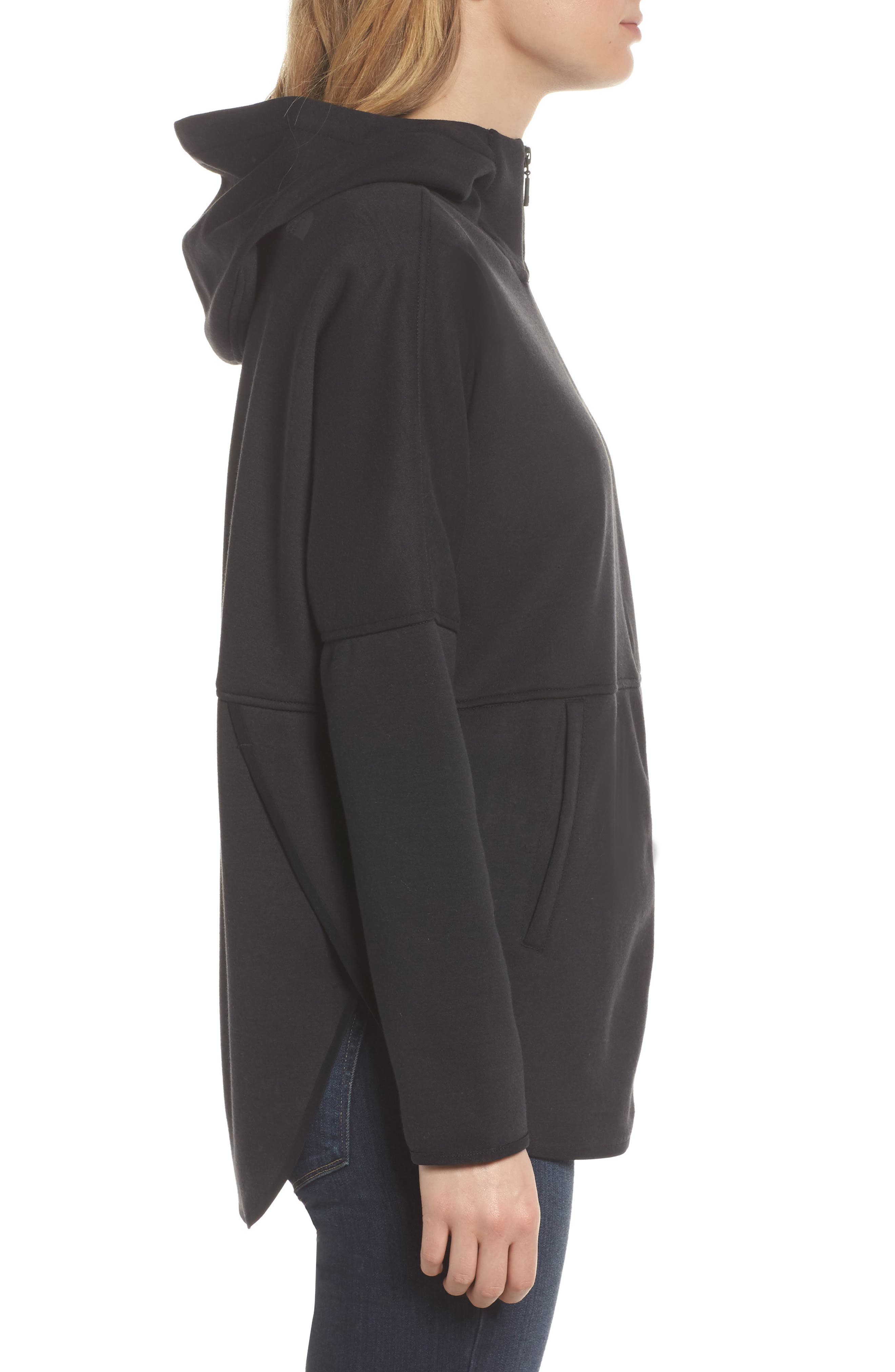 Slacker Hooded Jacket,                             Alternate thumbnail 3, color,                             Tnf Black