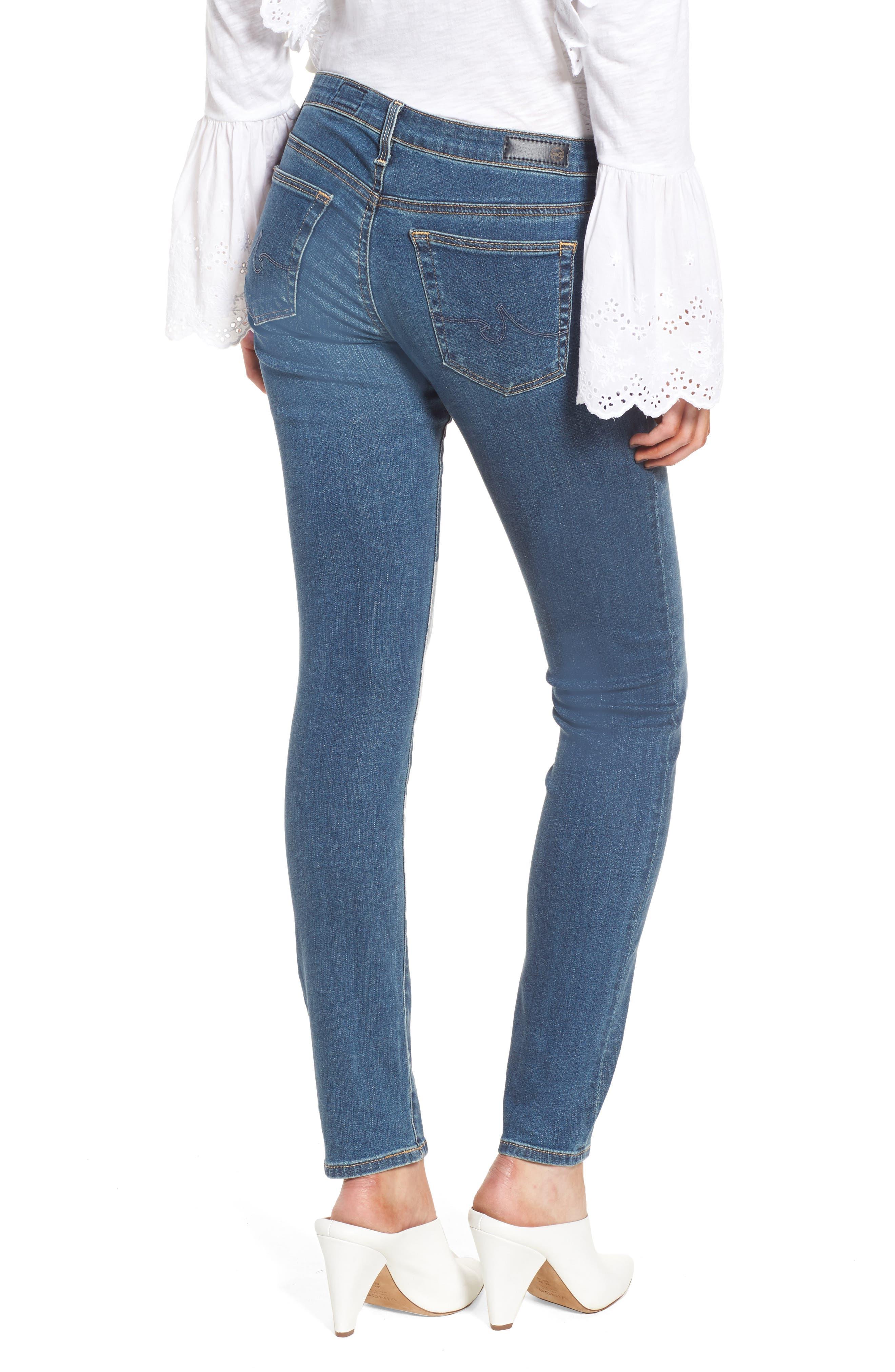 Alternate Image 2  - AG The Stilt Cigarette Leg Jeans (Serendipitous)