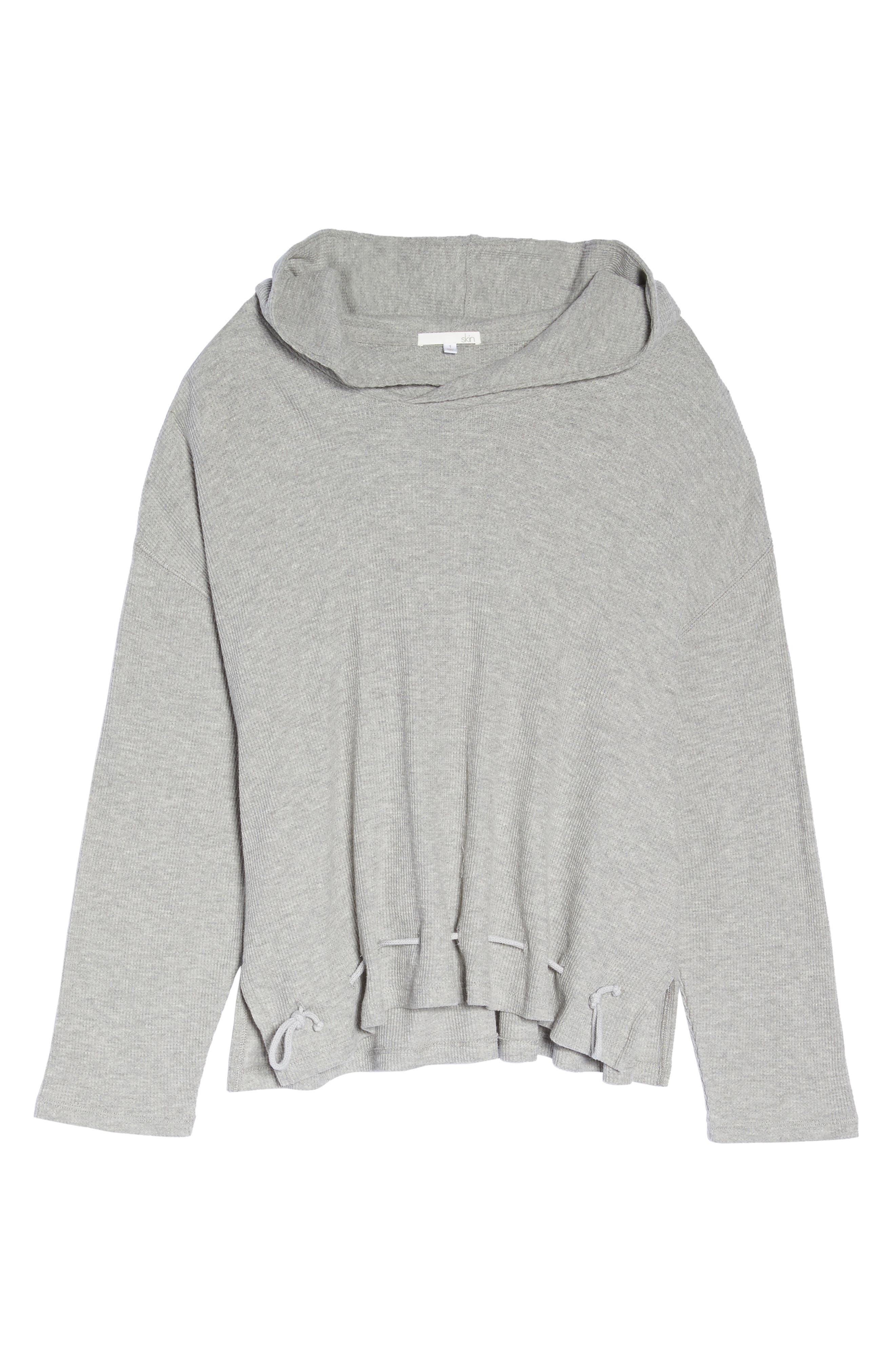 Thermal Hooded Top,                             Alternate thumbnail 6, color,                             Heather Grey