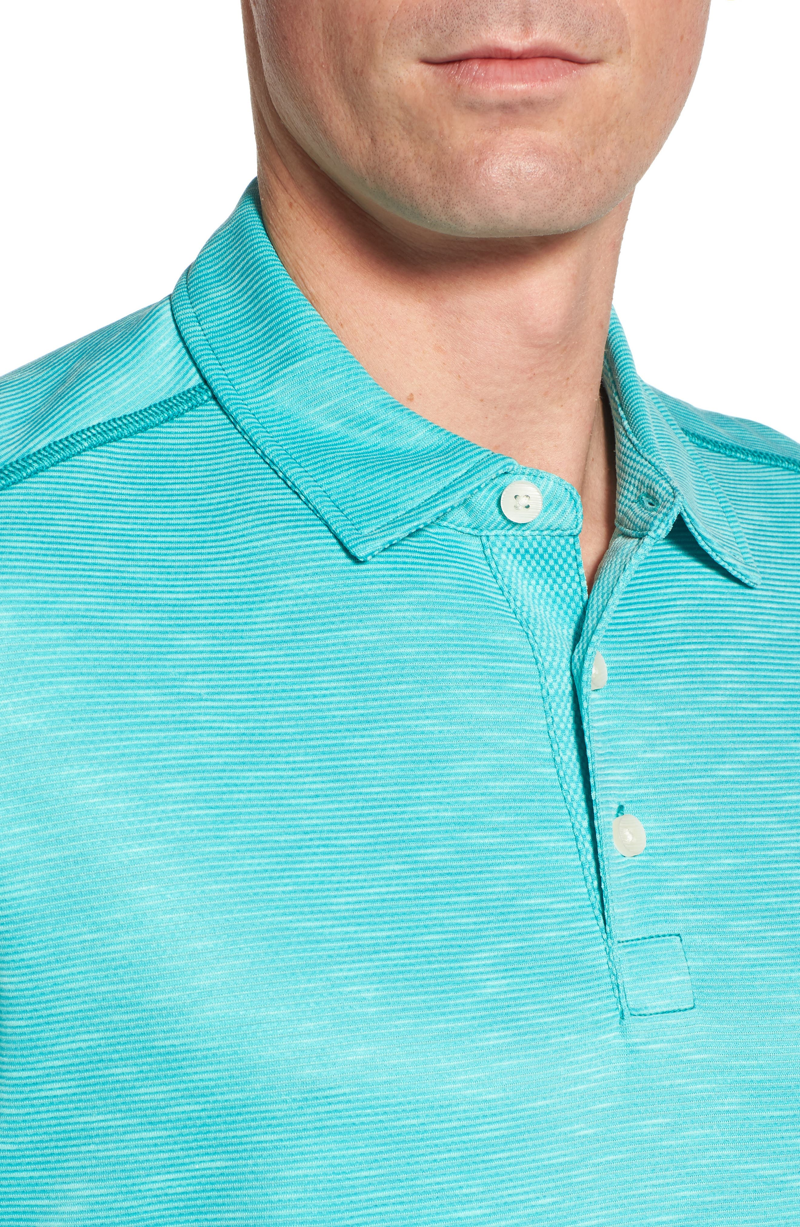 New Double Tempo Spectator Jersey Polo,                             Alternate thumbnail 4, color,                             Mint Mojito