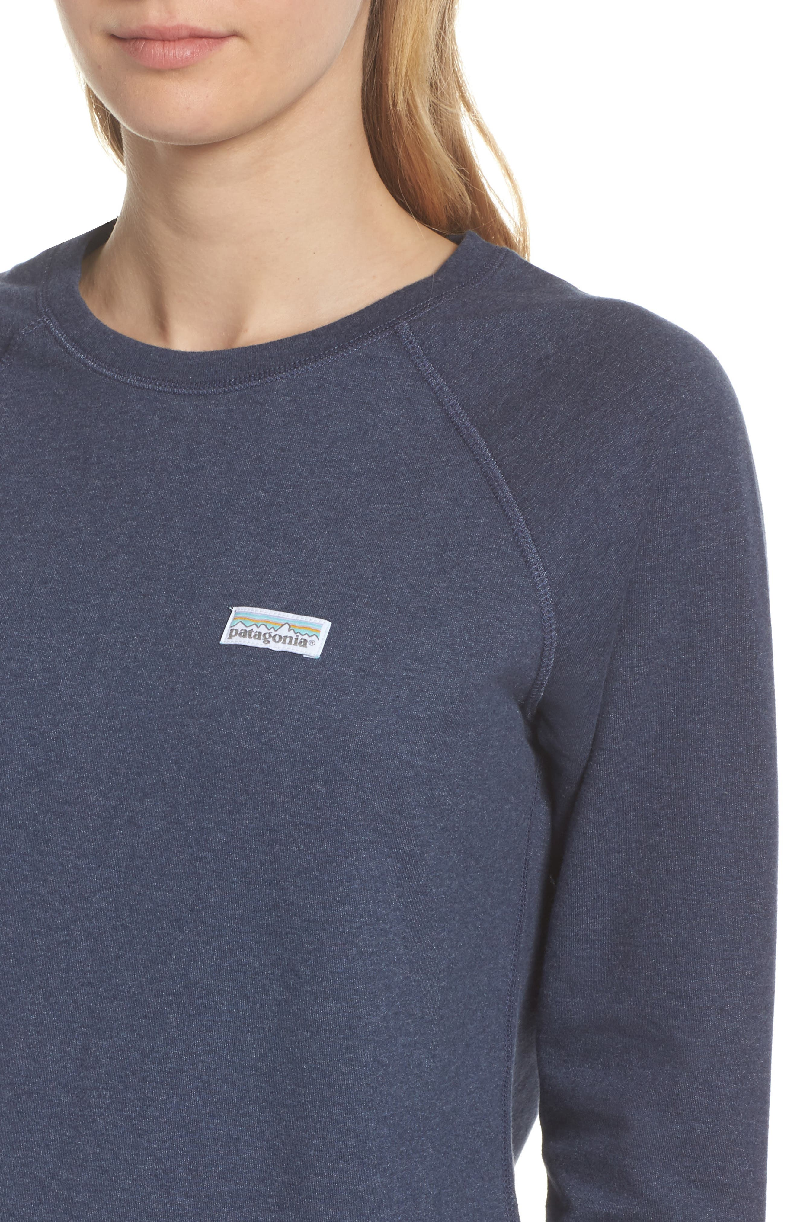 Pastel P-6 Label Midweight Sweatshirt,                             Alternate thumbnail 4, color,                             Classic Navy