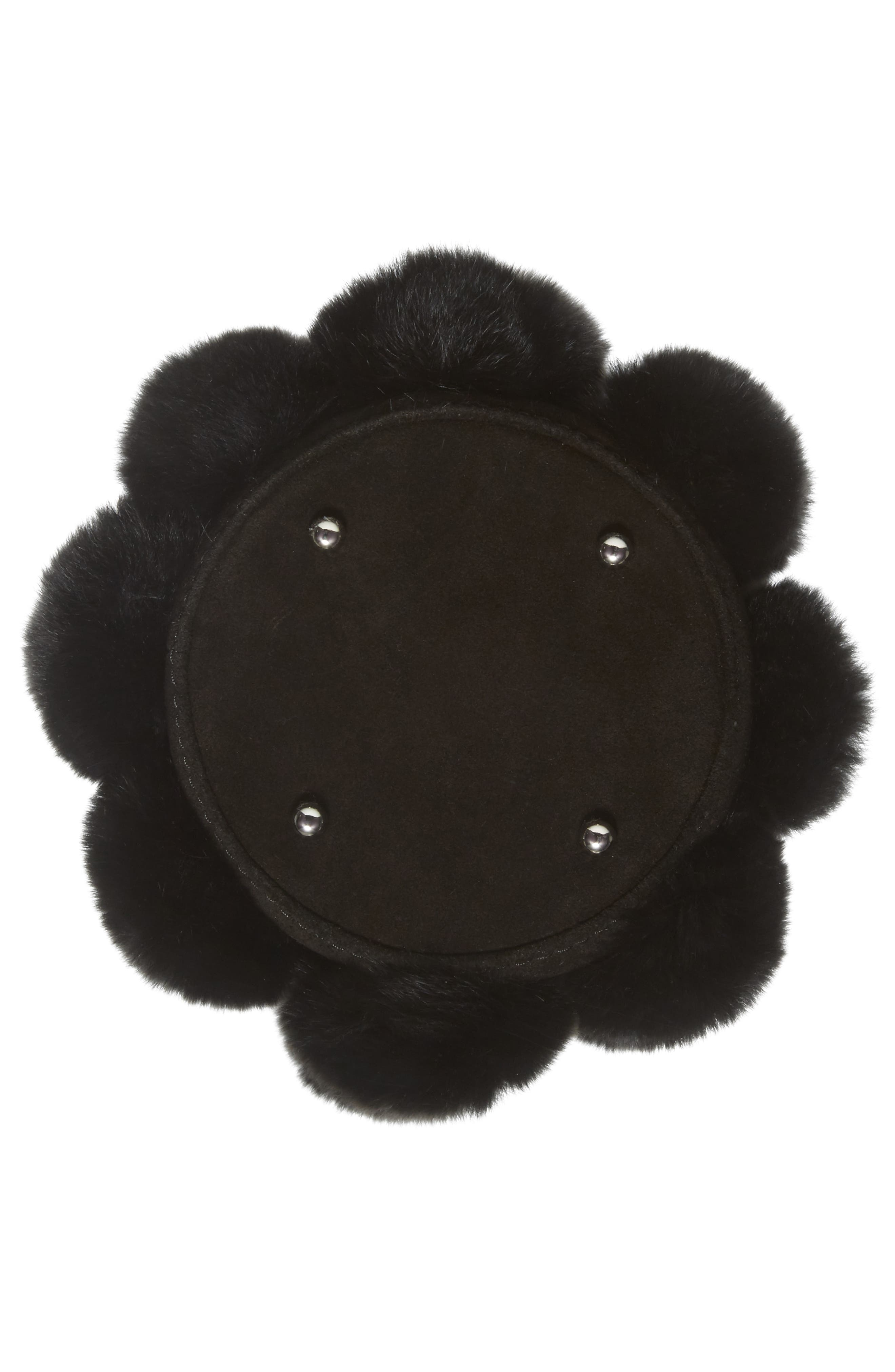 Alternate Image 4  - Alexander Wang Mini Roxy Genuine Rabbit Fur Pompom Leather