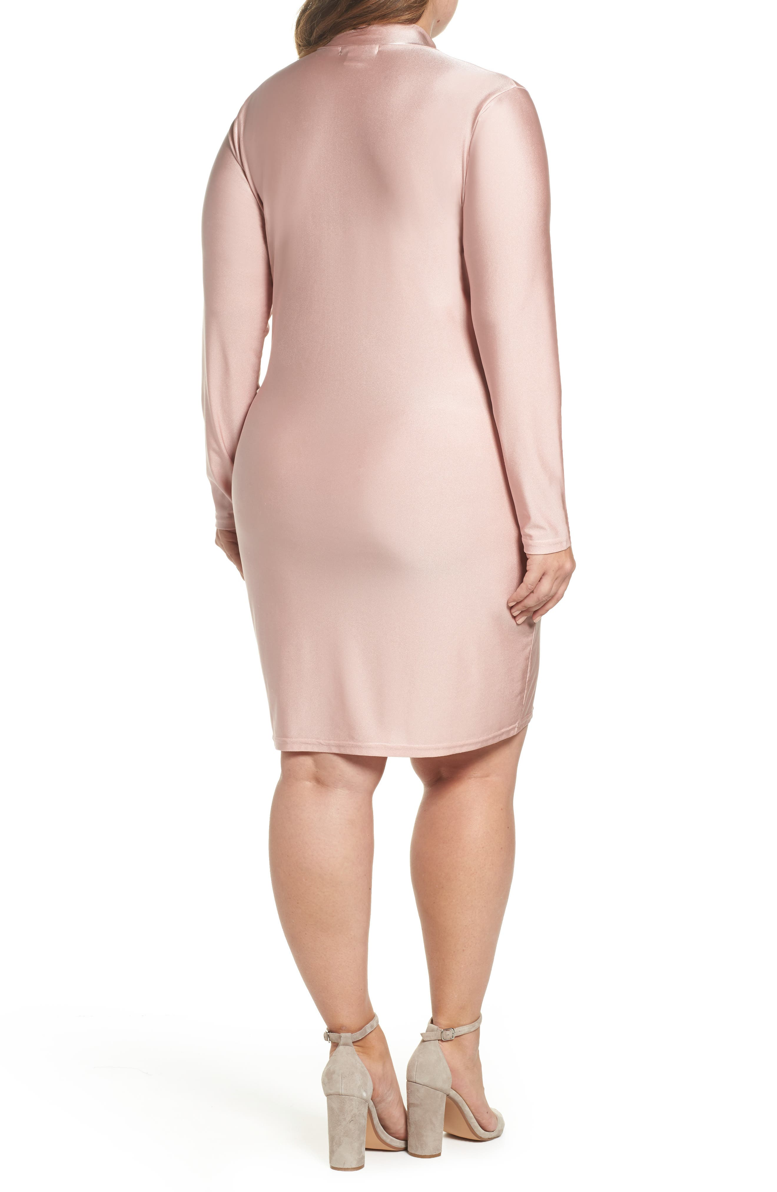 Shimmer Tie-Front Dress,                             Alternate thumbnail 2, color,                             Pink