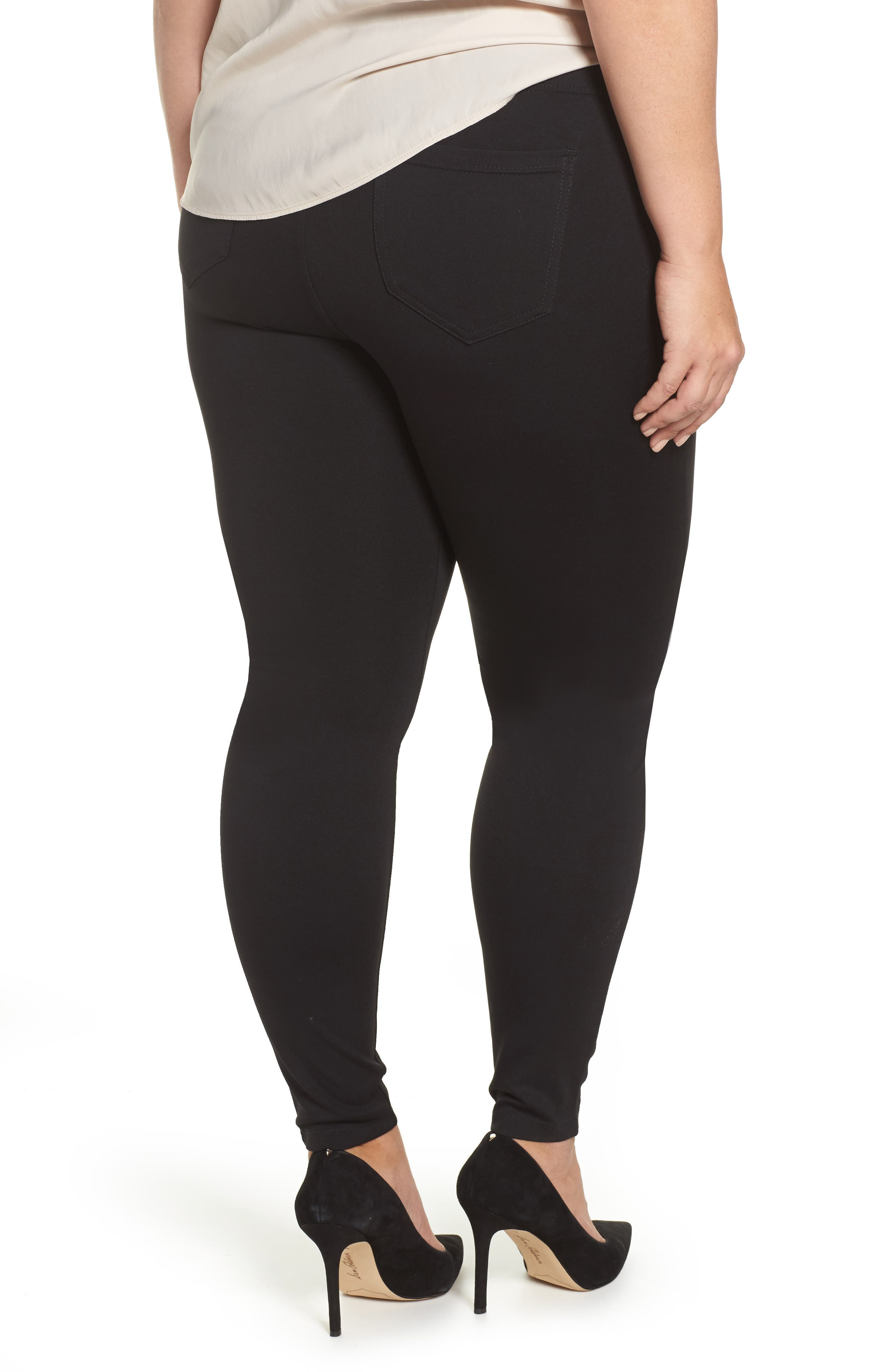 Alternate Image 2  - Liverpool Jeans Company Ponte Knit Leggings (Plus Size)