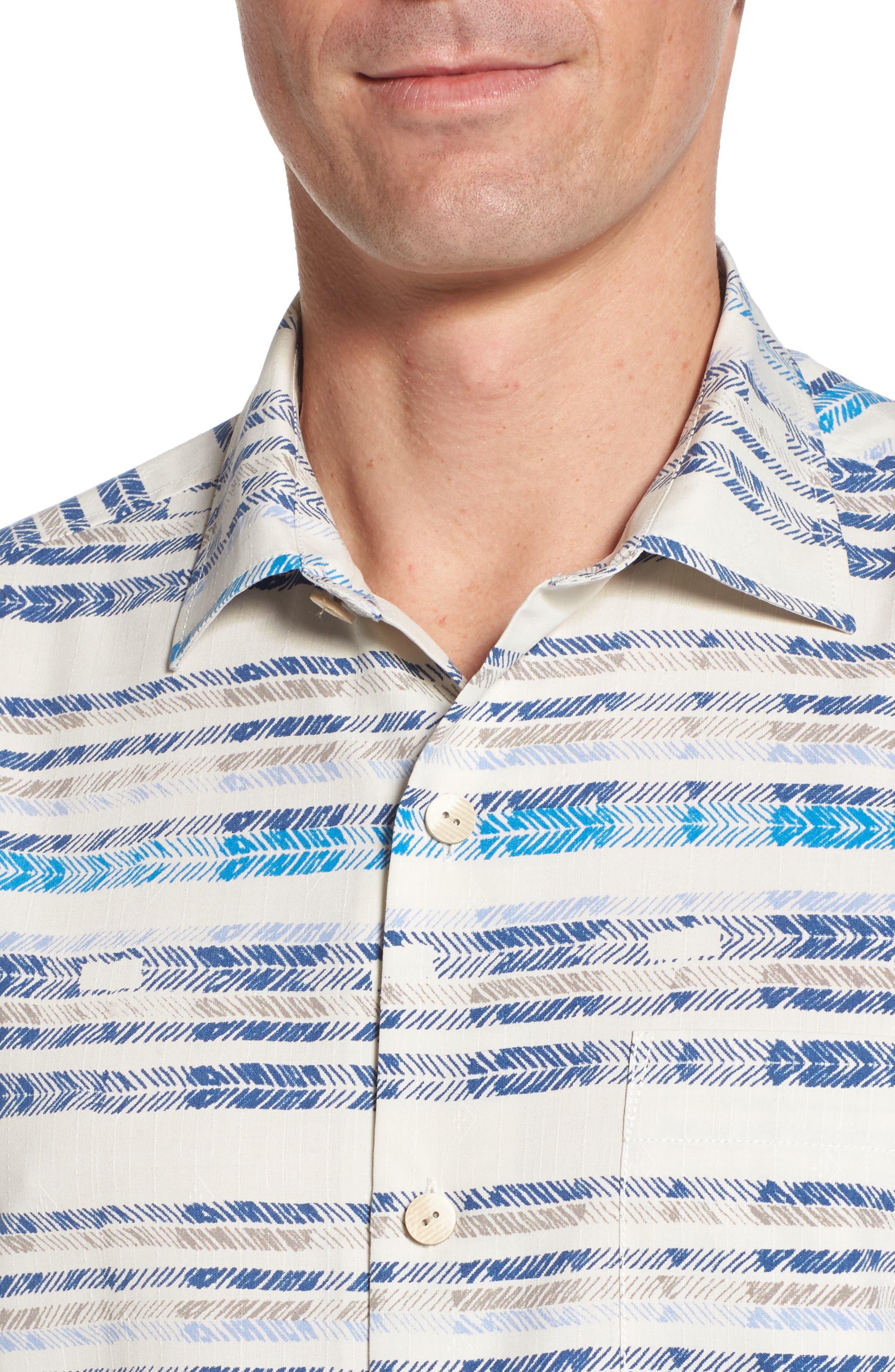 Breaker Bay Sport Shirt,                             Alternate thumbnail 4, color,                             Coconut Cream