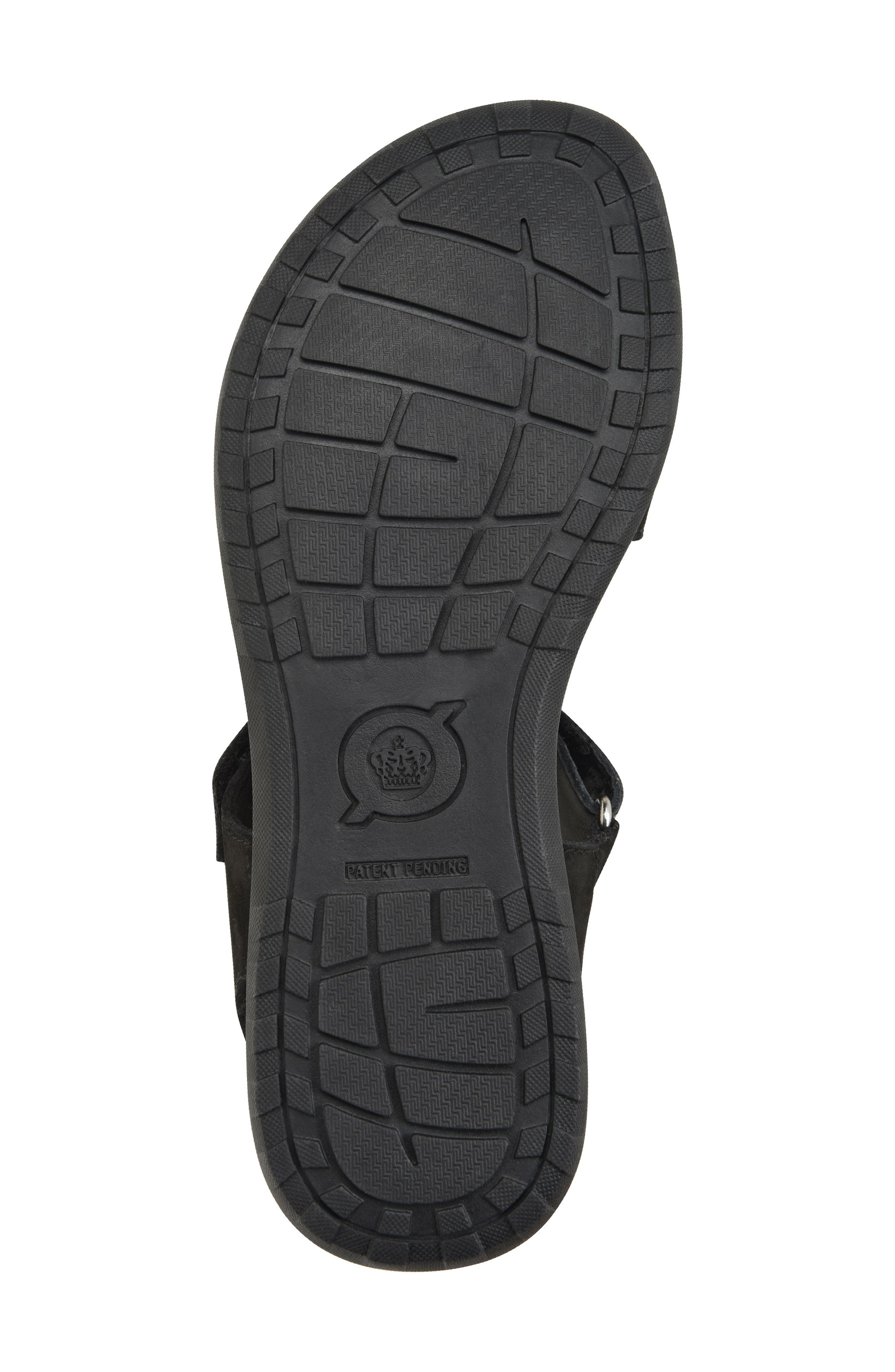 Nirvana Sandal,                             Alternate thumbnail 6, color,                             Black Leather