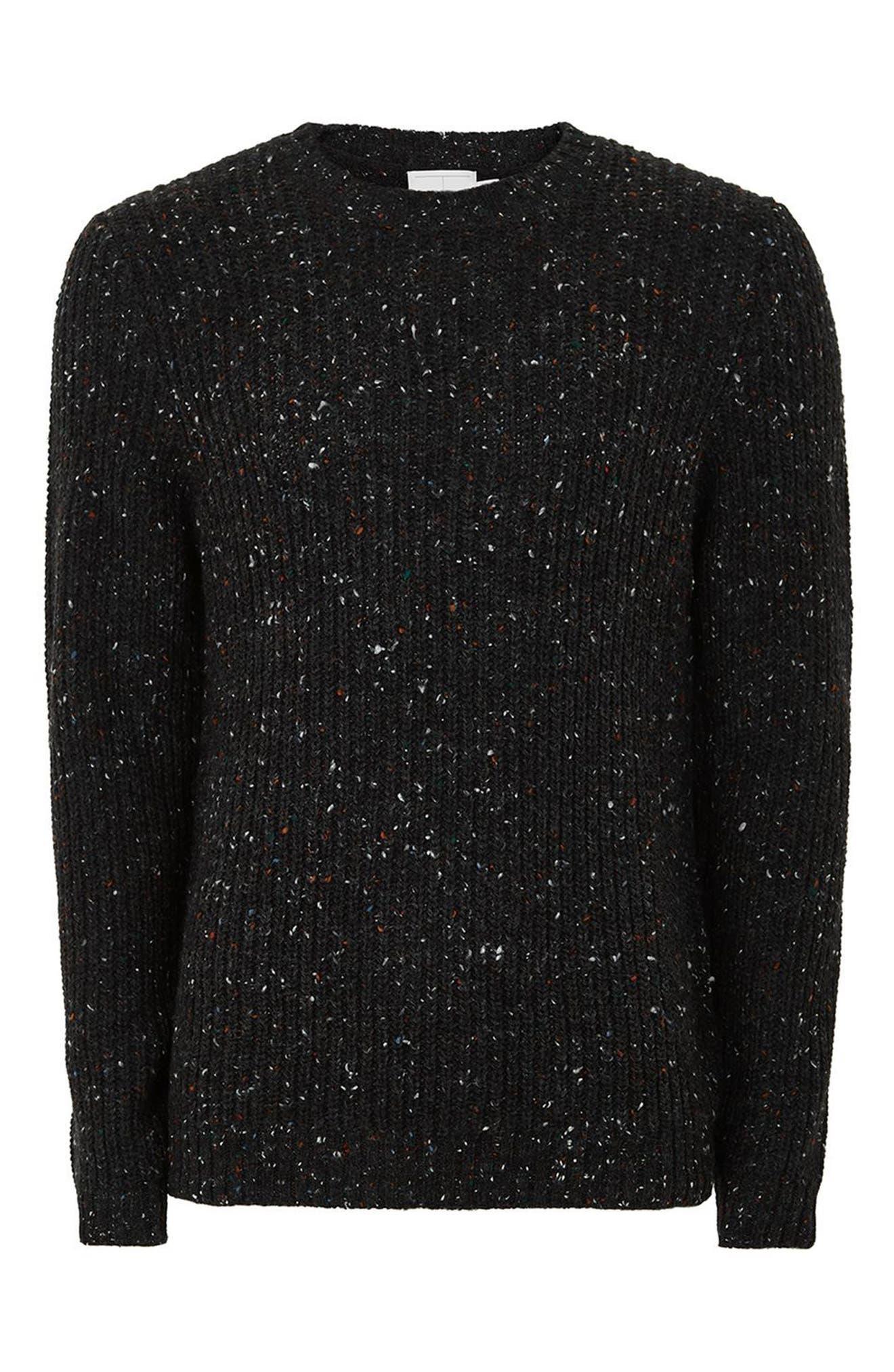 Premium Fisherman Sweater,                             Alternate thumbnail 4, color,                             Charcoal