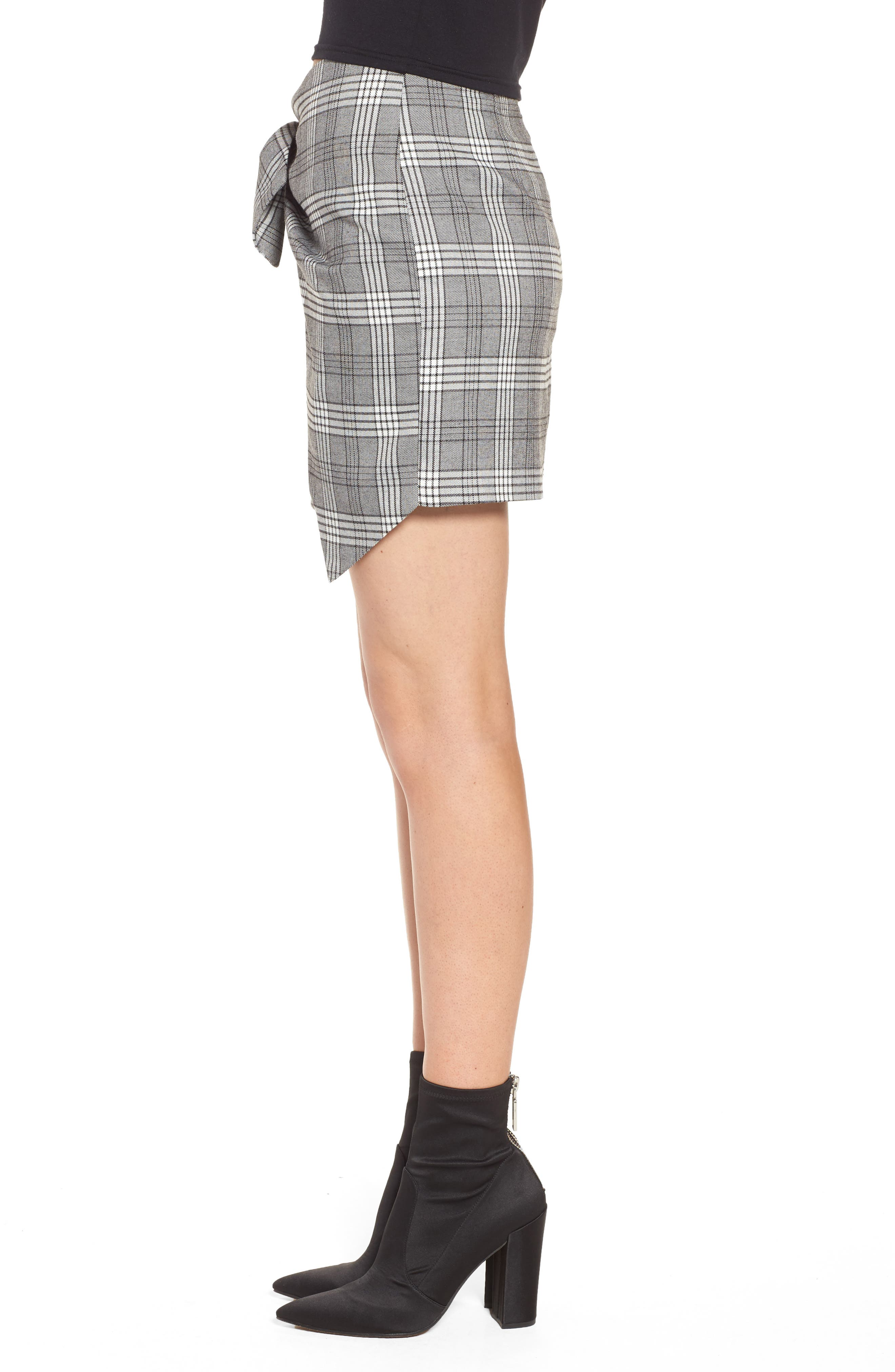 Alternate Image 4  - Lovers + Friends Julie Faux Wrap Plaid Skirt