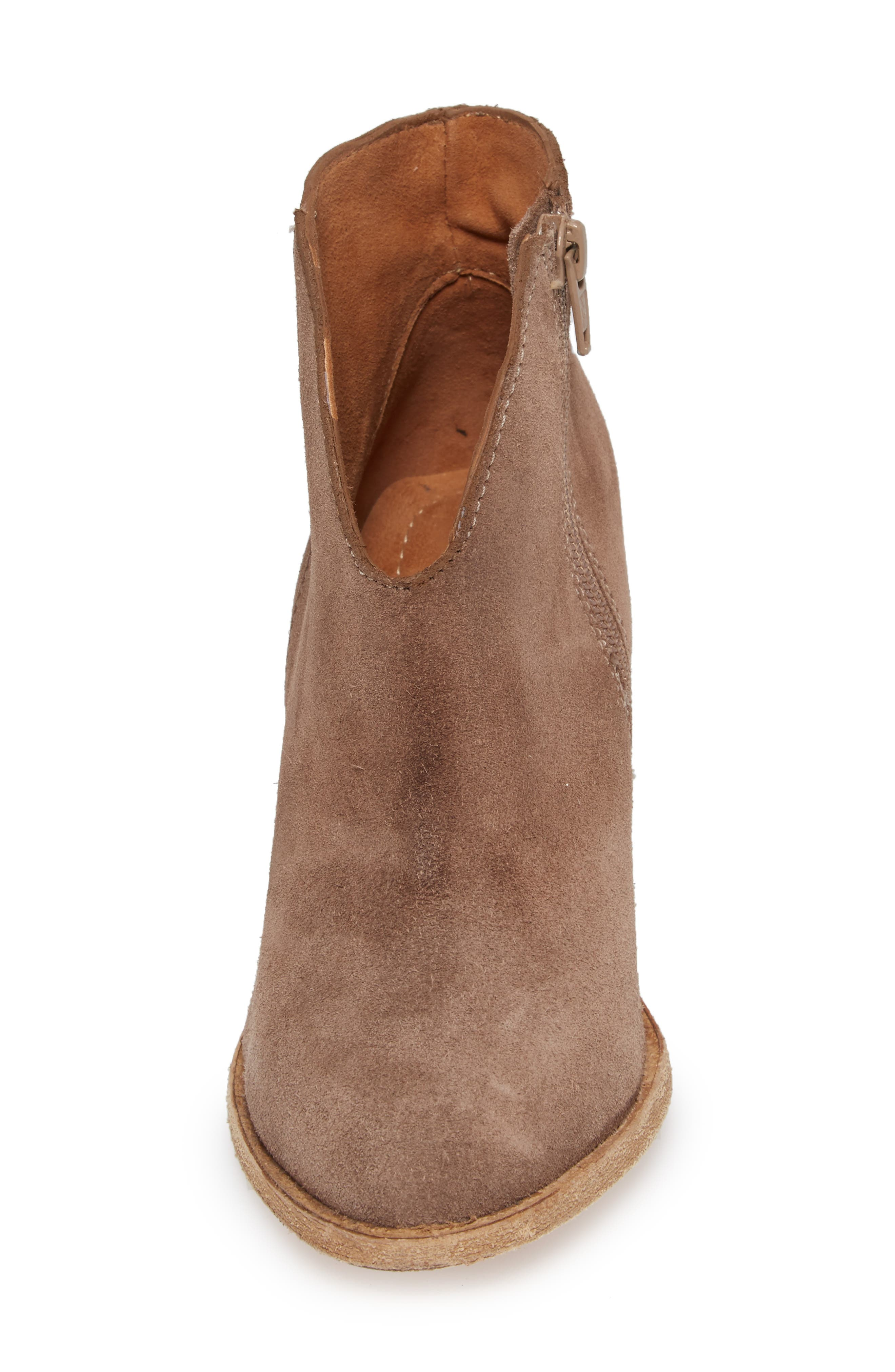 Kamet Bootie,                             Alternate thumbnail 4, color,                             Taupe Oiled Suede
