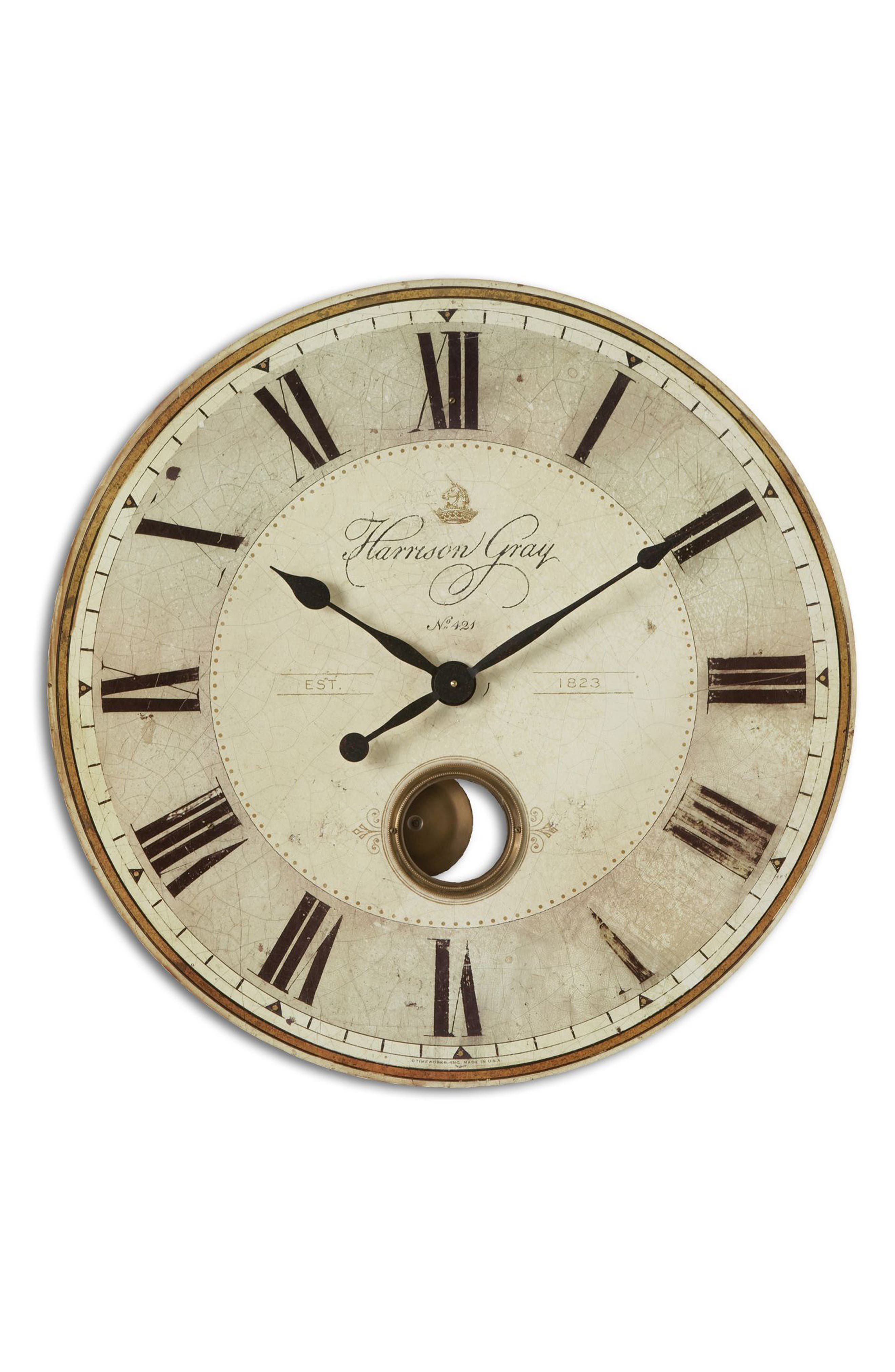 Alternate Image 1 Selected - Uttermost Harrison Gray Wall Clock
