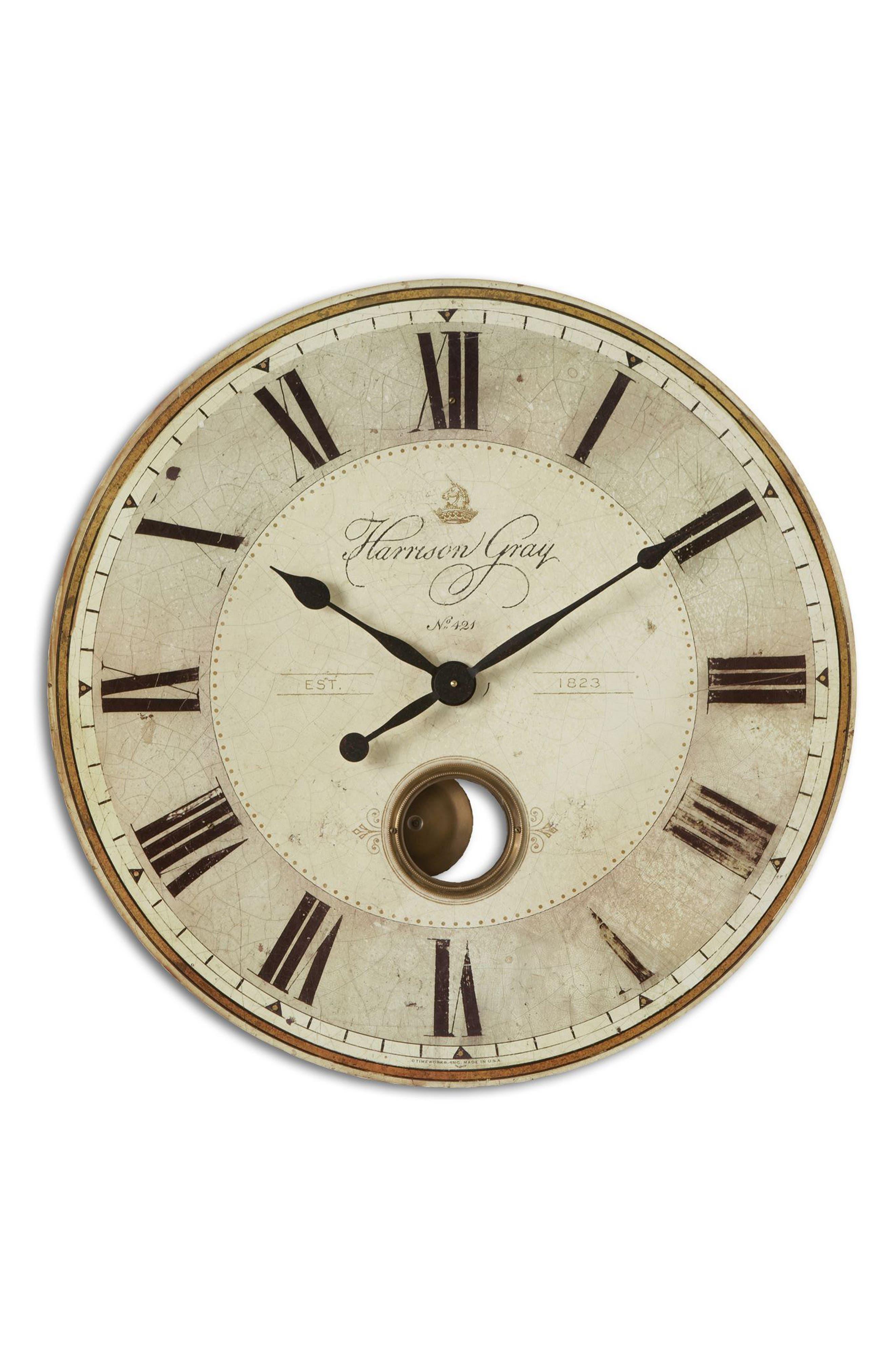 Uttermost Harrison Gray Wall Clock
