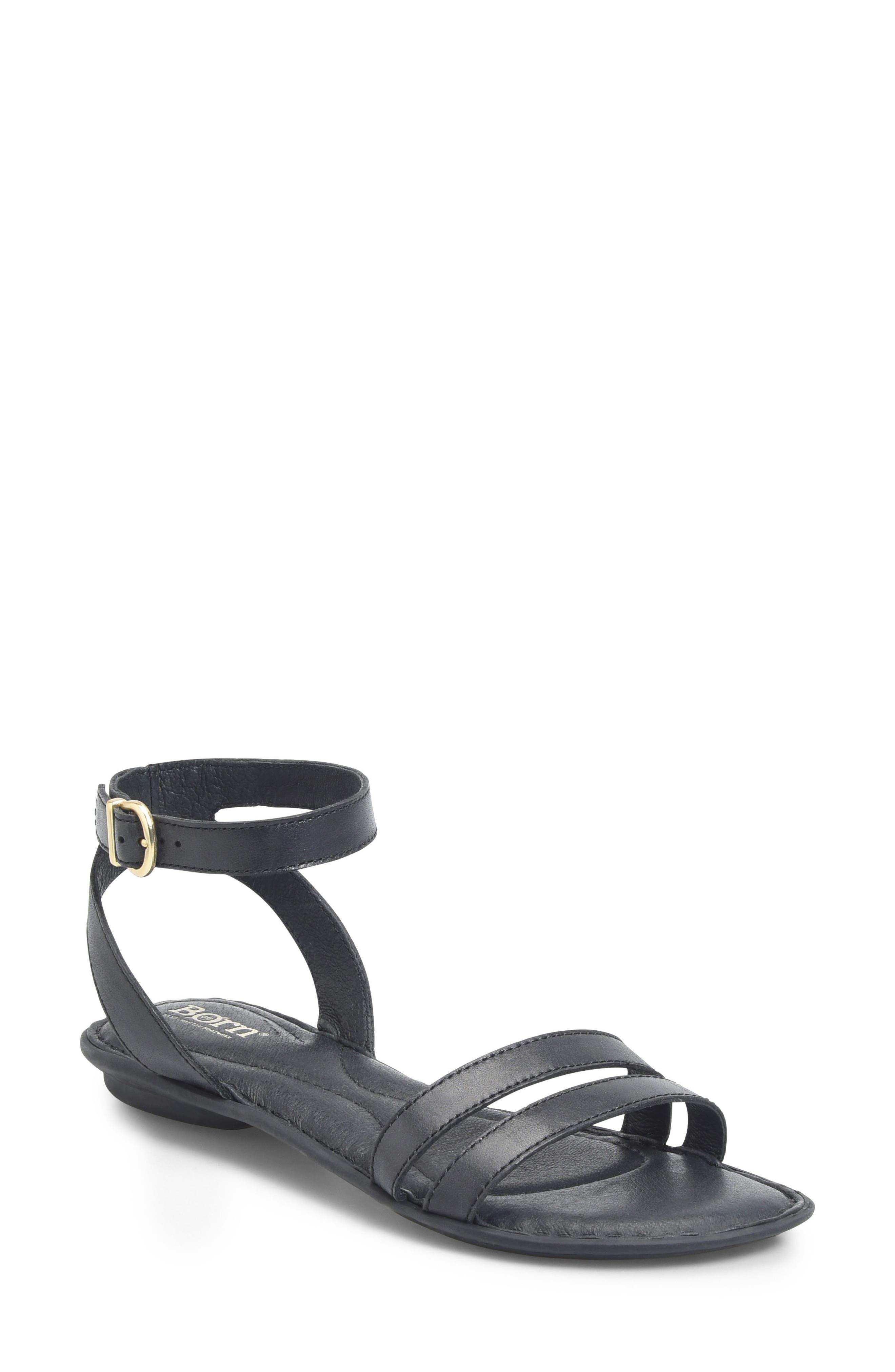 Mai Easy Sandal,                         Main,                         color, Black Leather