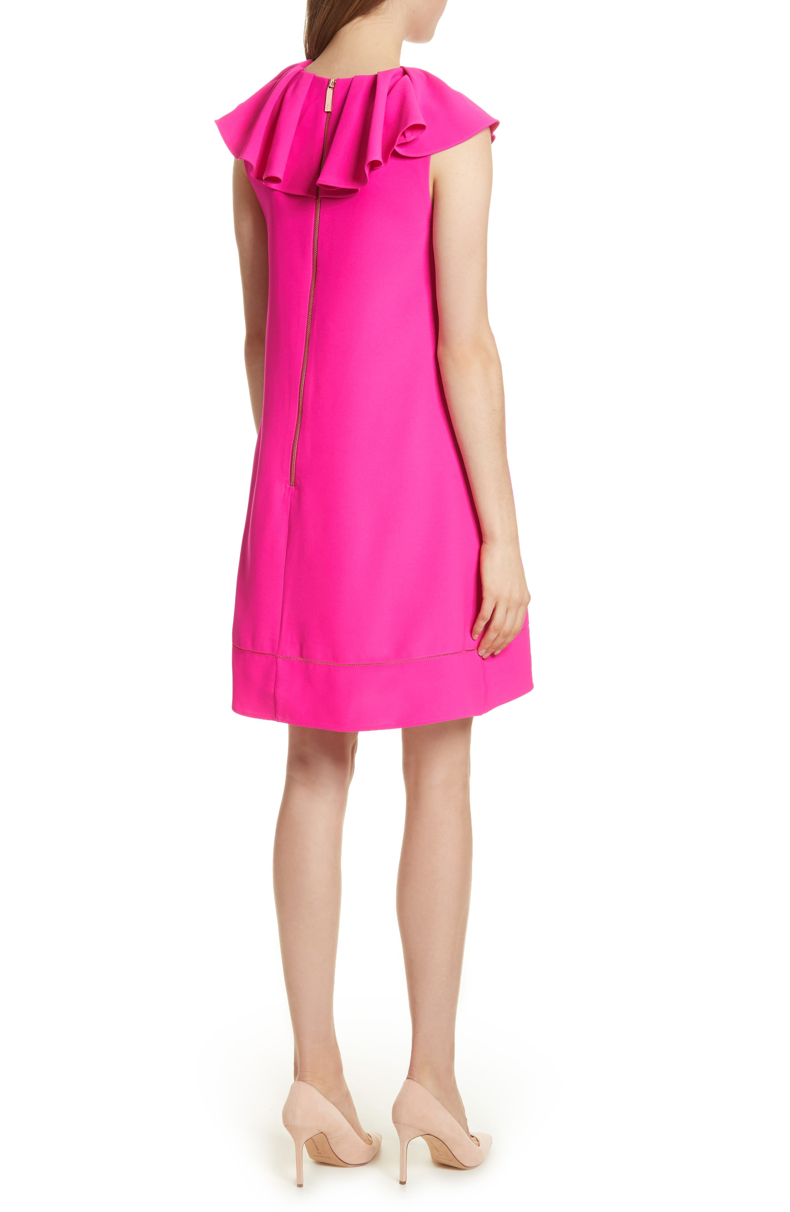 Alternate Image 2  - Ted Baker London Ruffled Neck Shift Dress