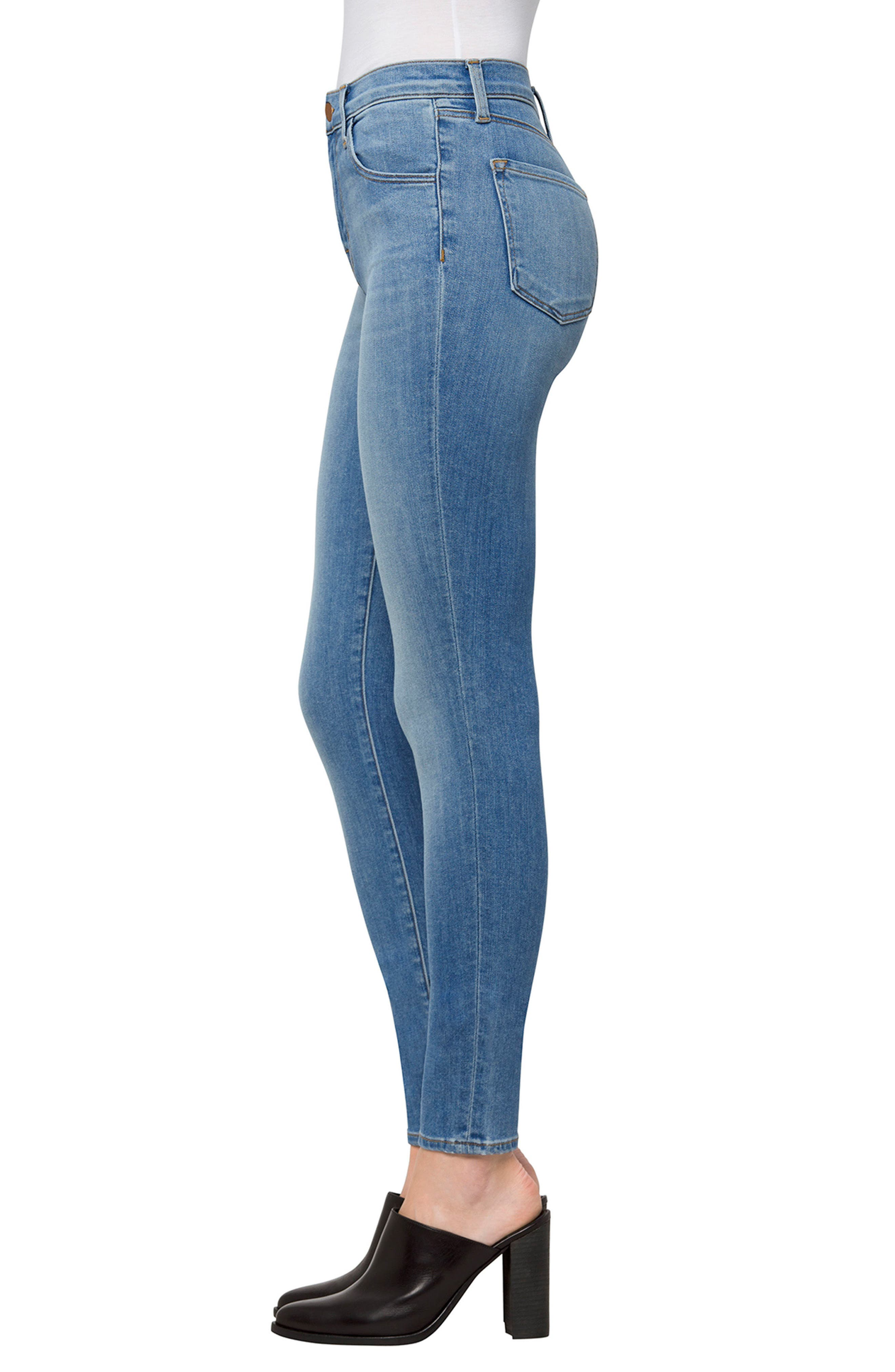 Alternate Image 3  - J Brand Maria High Waist Skinny Jeans (Fleeting)