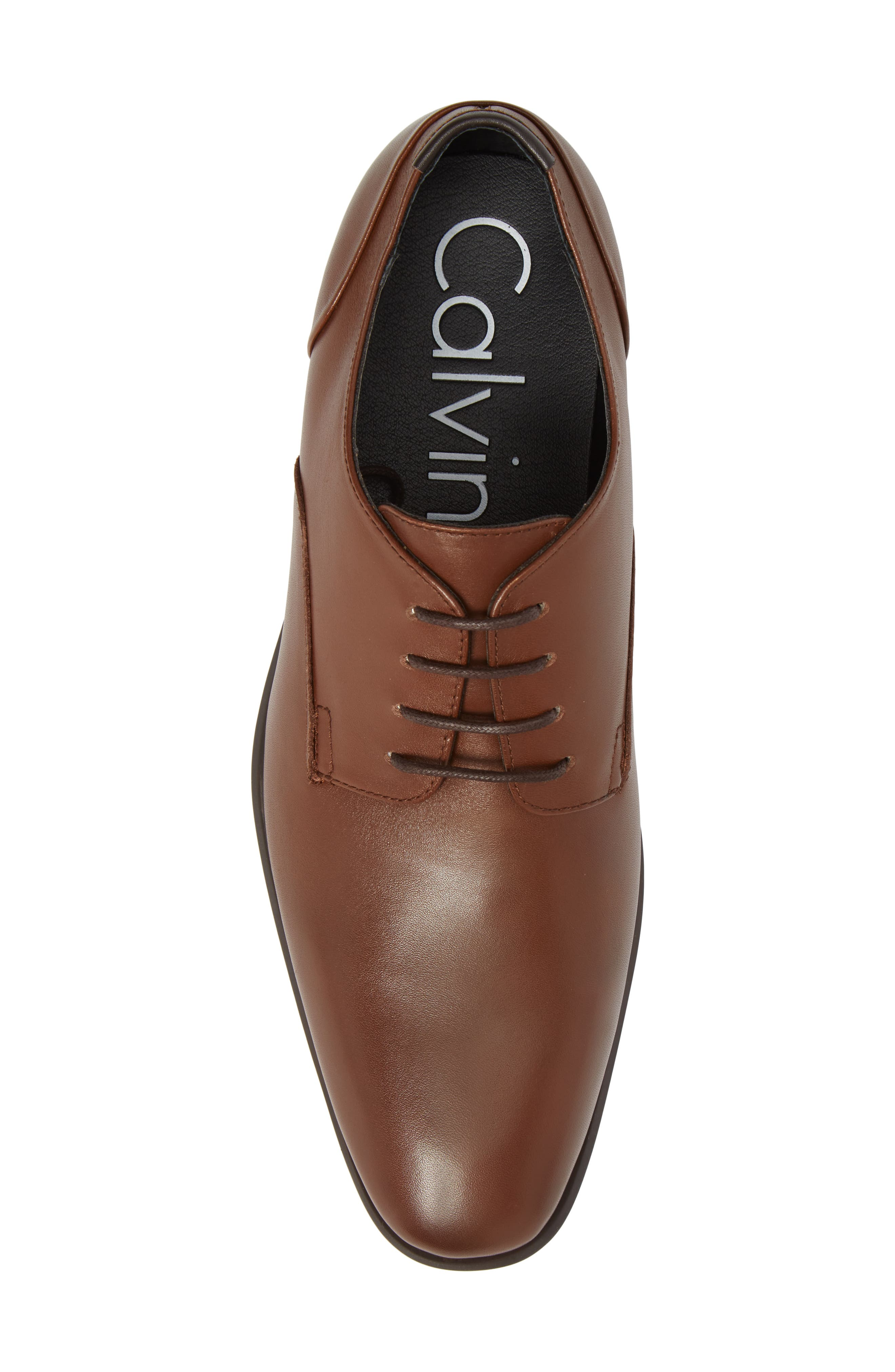 Lucca Plain Toe Derby,                             Alternate thumbnail 5, color,                             Tan Leather