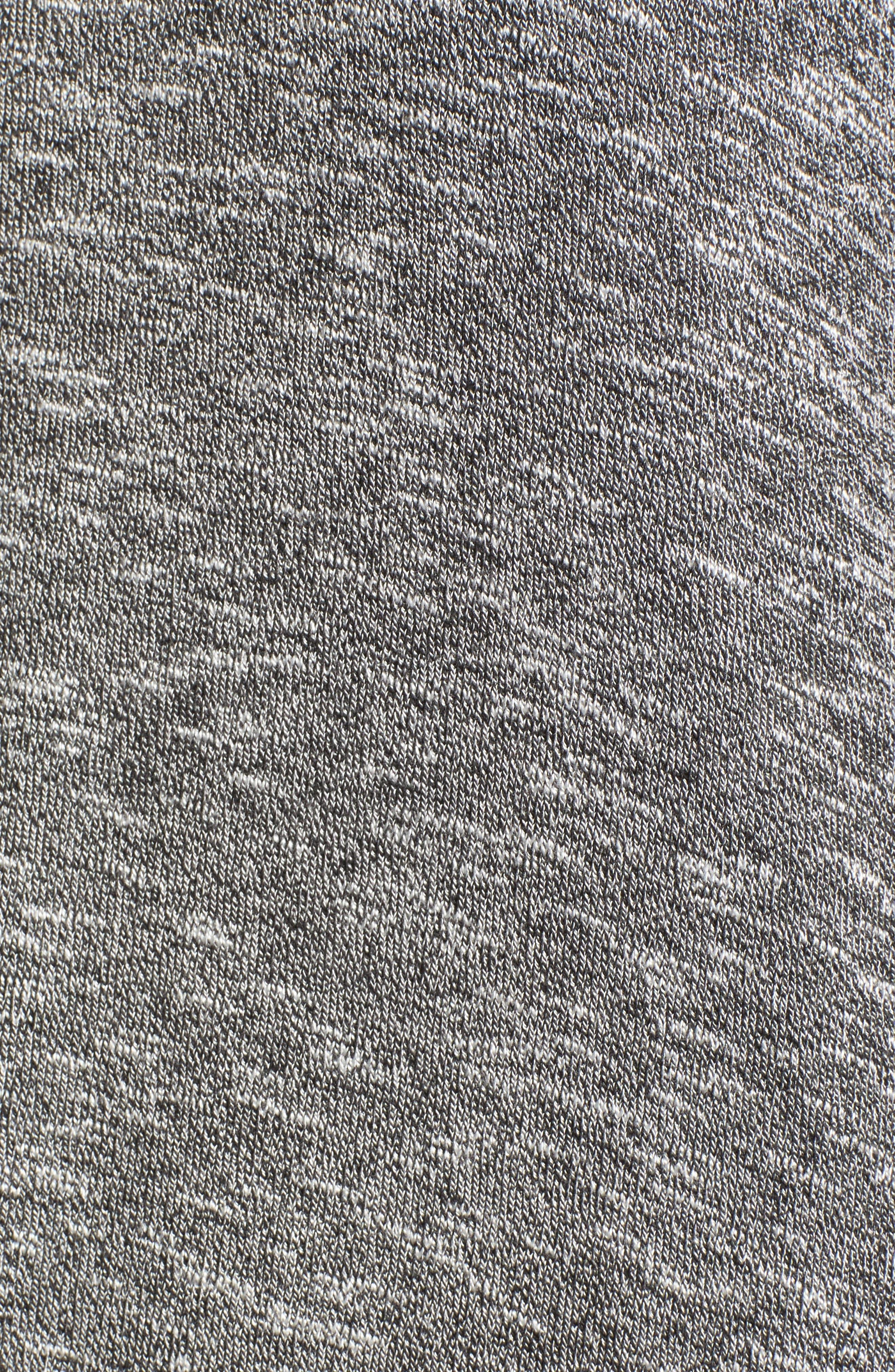 Knit Puff Shoulder Dress,                             Alternate thumbnail 5, color,                             Heather Grey