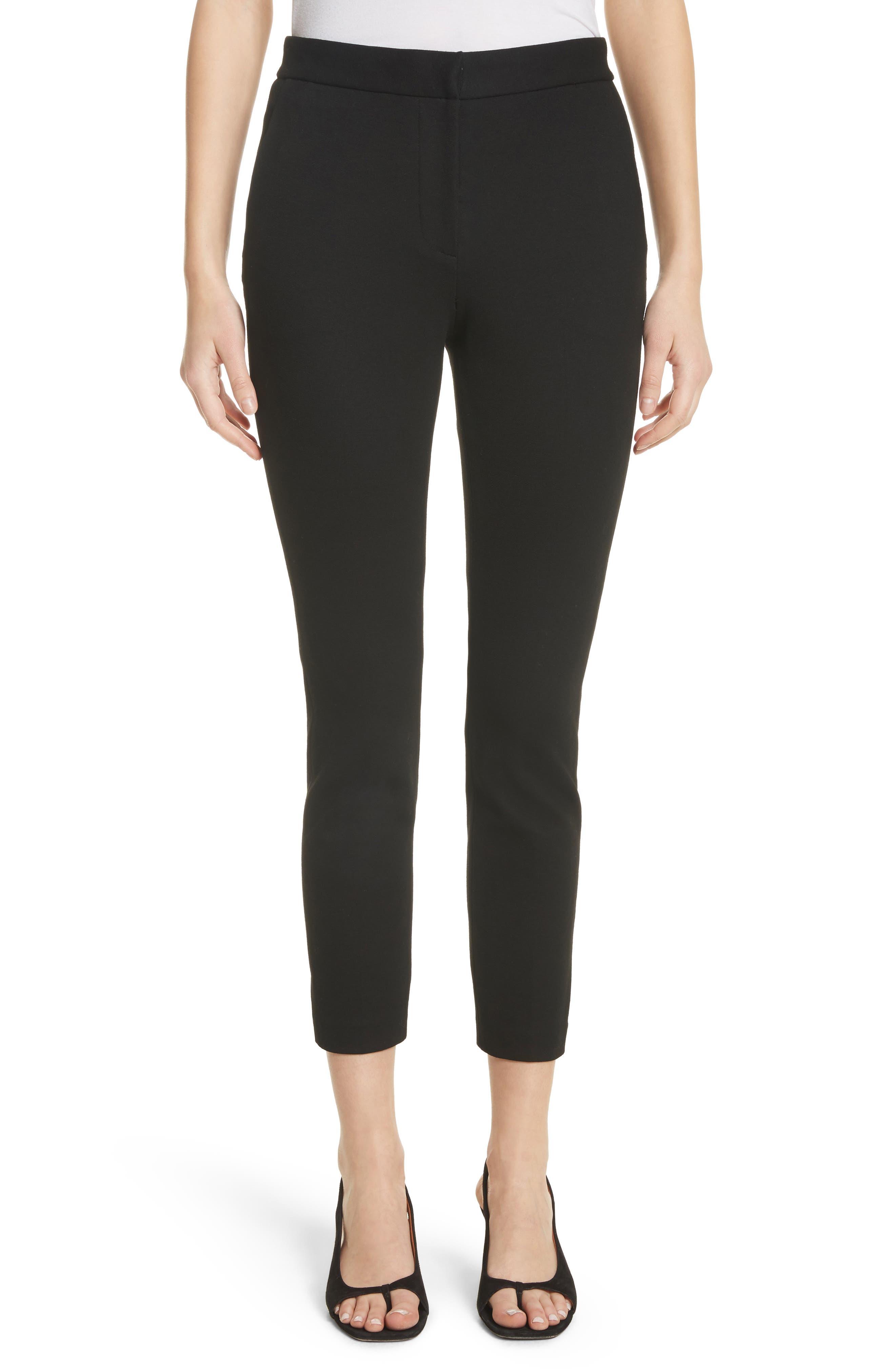 Crop Skinny Pants,                         Main,                         color, Black