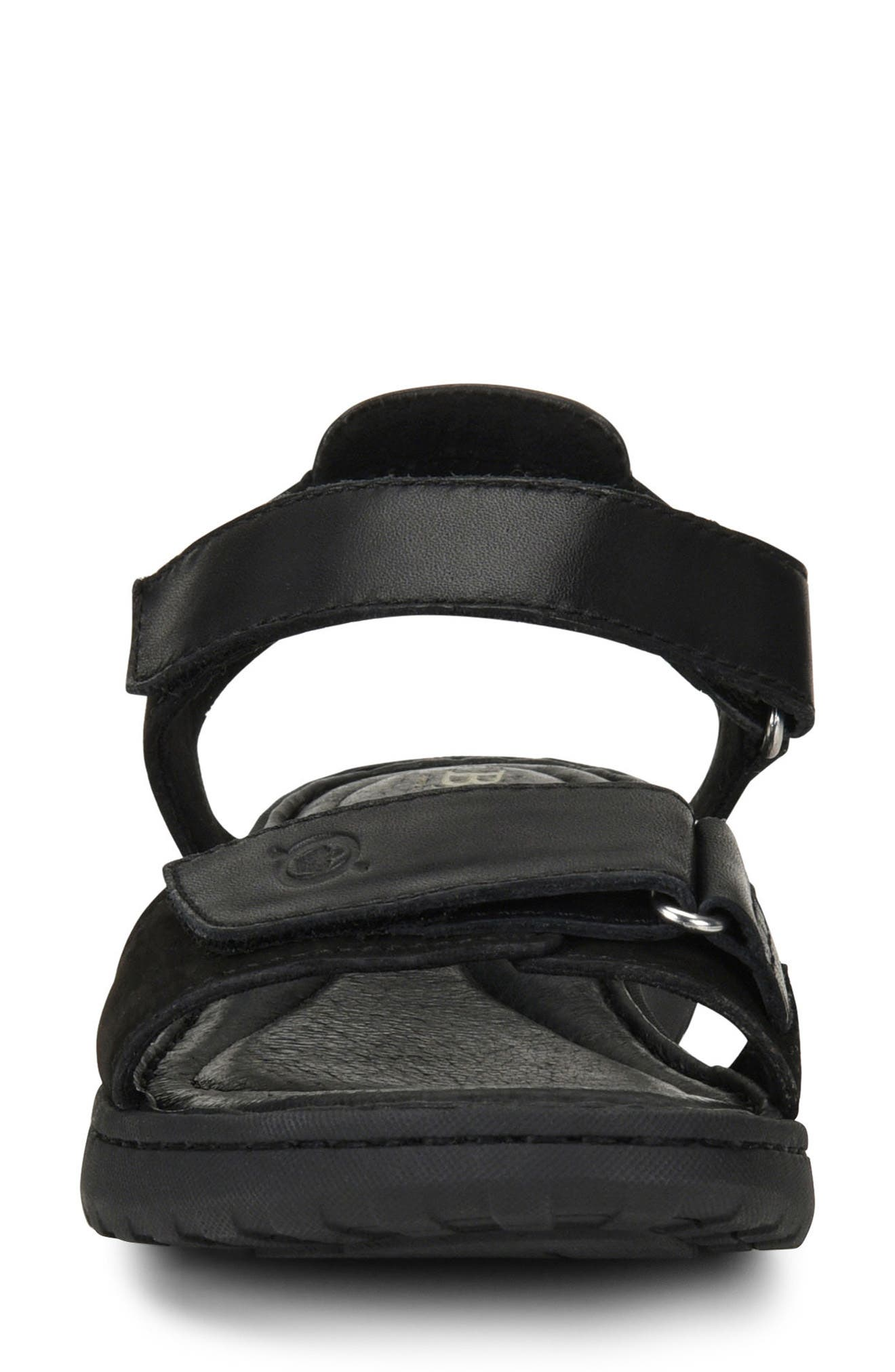 Nirvana Sandal,                             Alternate thumbnail 4, color,                             Black Leather