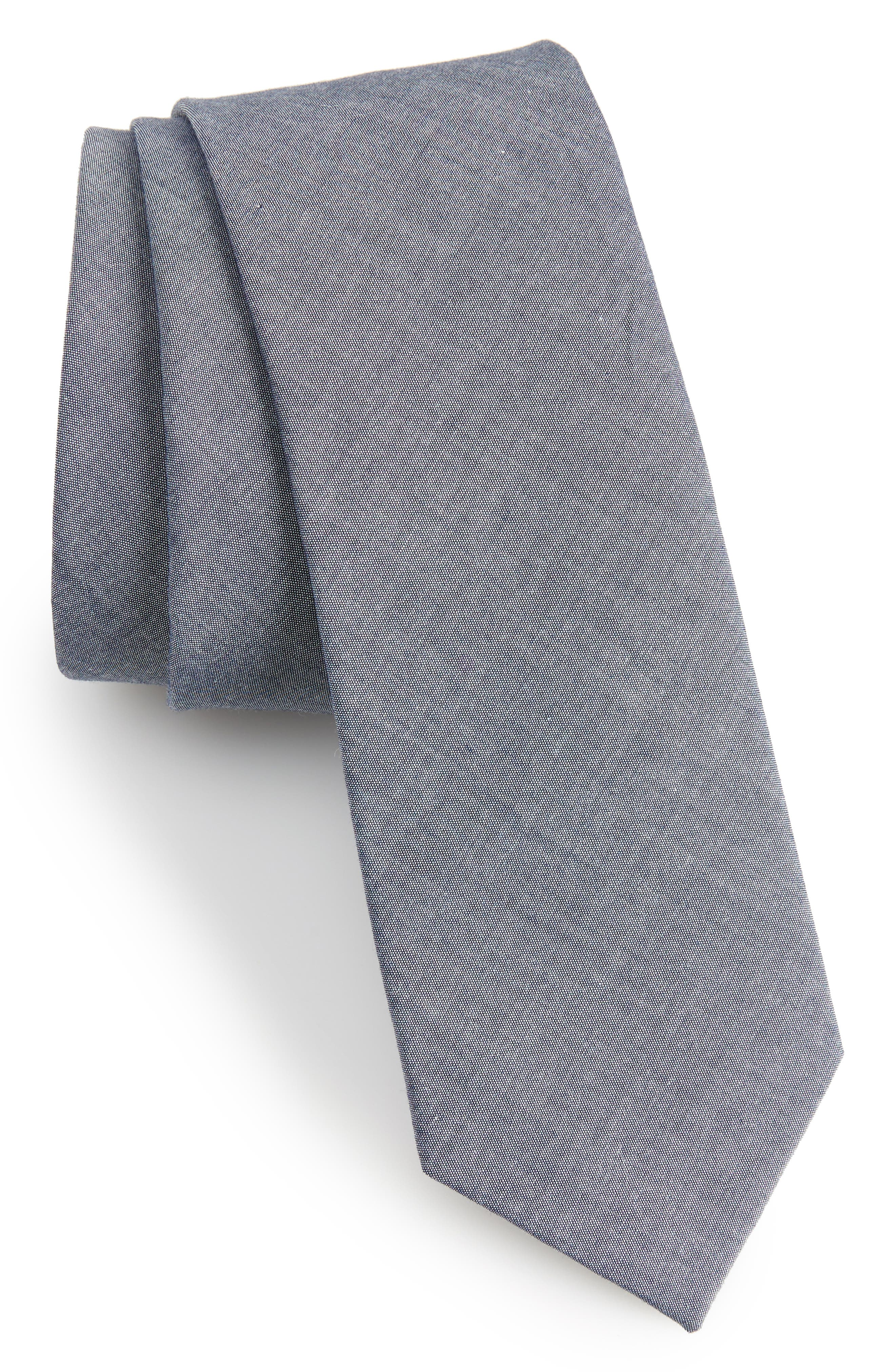 1901 Desmond Solid Cotton Skinny Tie