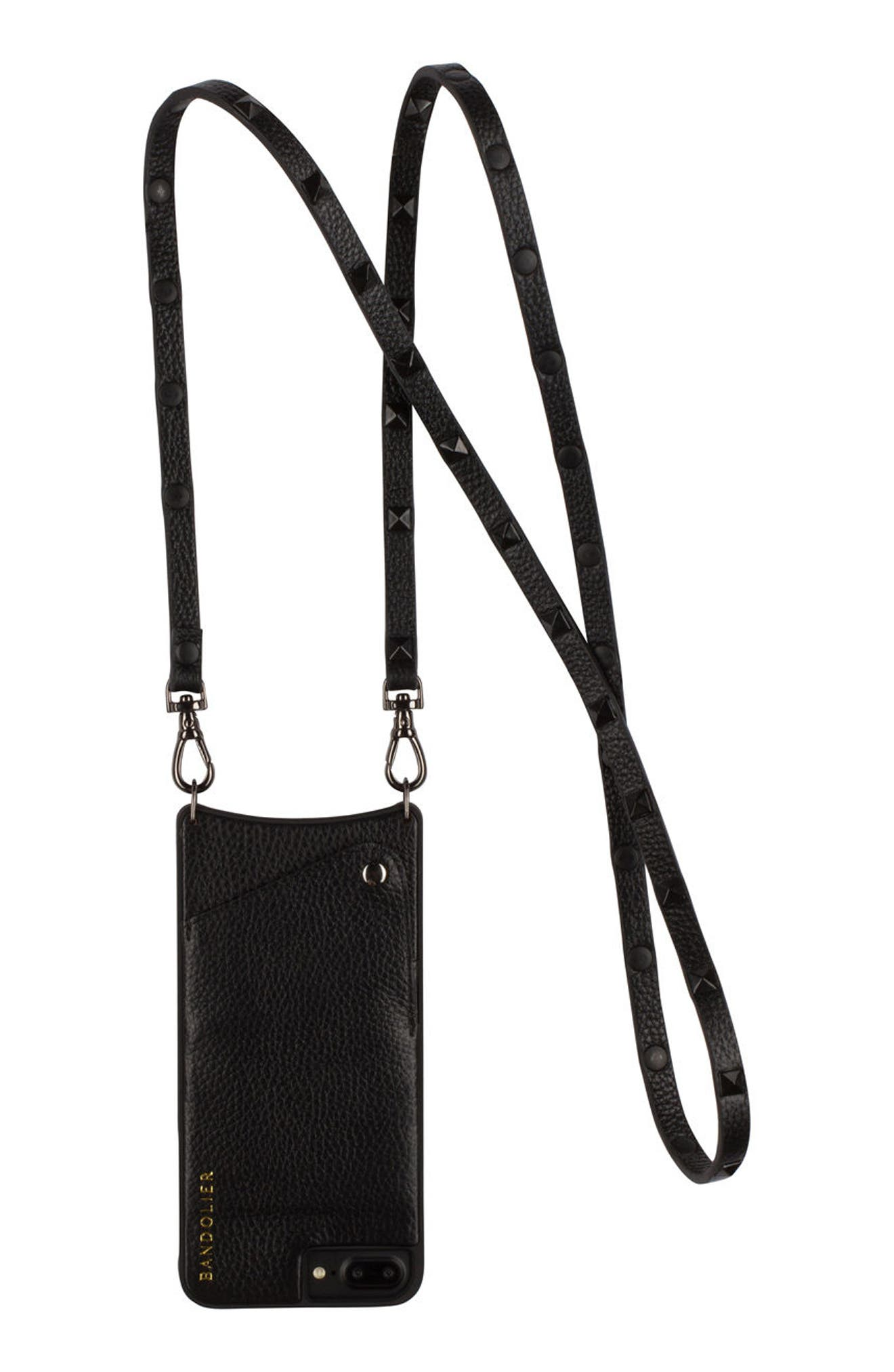 Bandolier Sarah Leather iPhone 6/7/8 & 6/7/8 Plus Crossbody Case