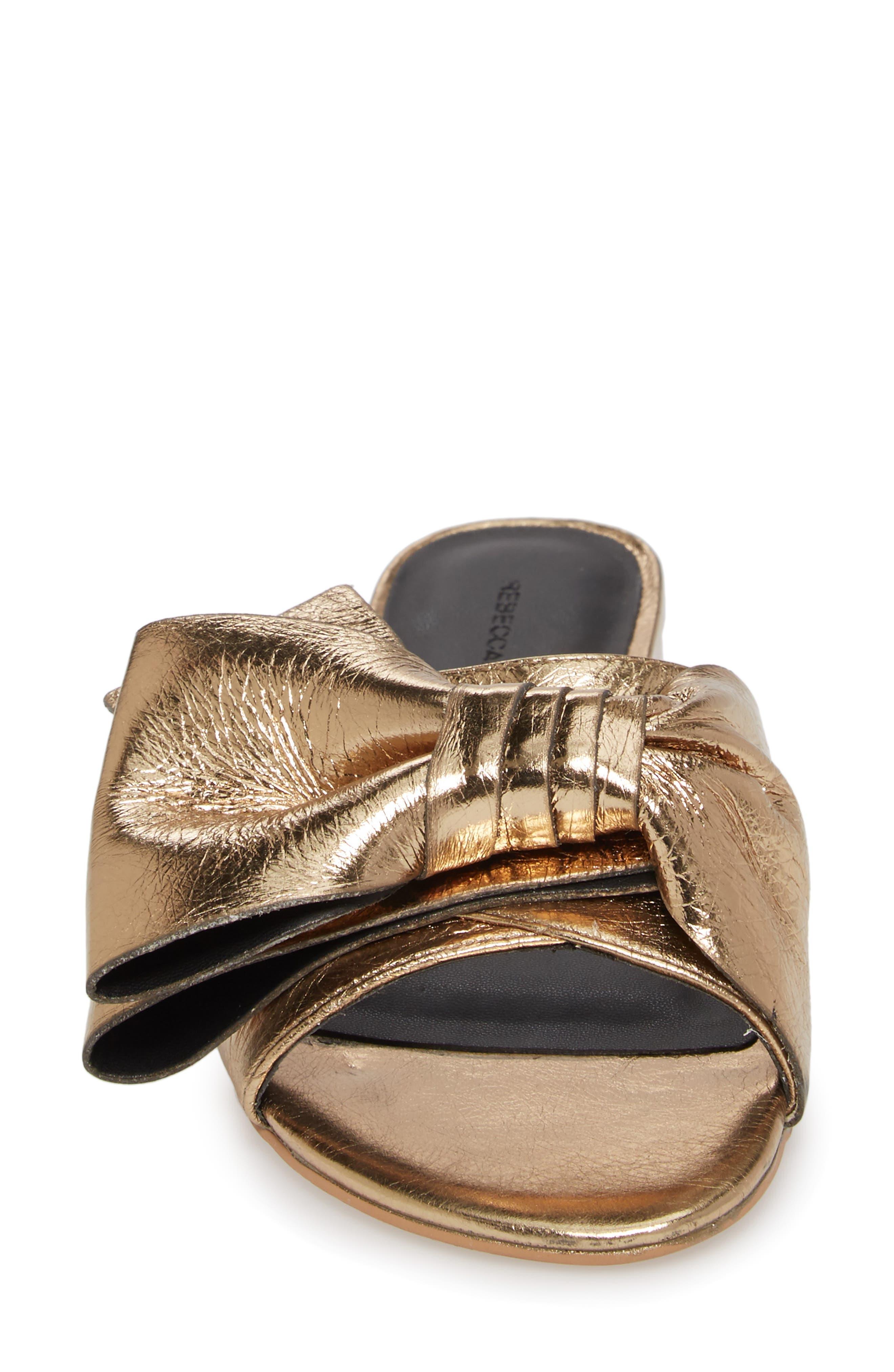 Calista Sandal,                             Alternate thumbnail 4, color,                             Gold Metallic Leather
