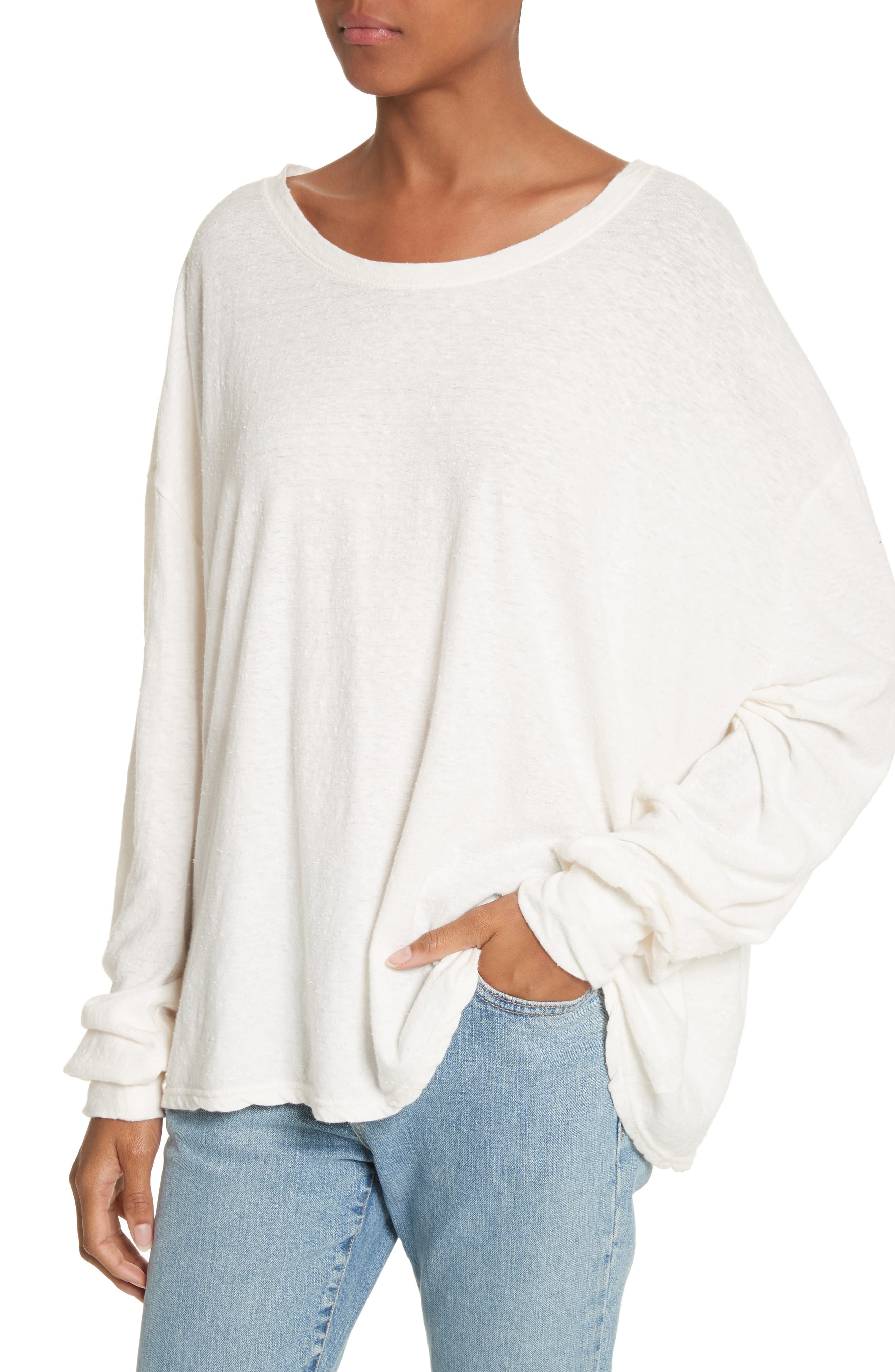 Solano Oversize Cotton Top,                             Alternate thumbnail 4, color,                             White