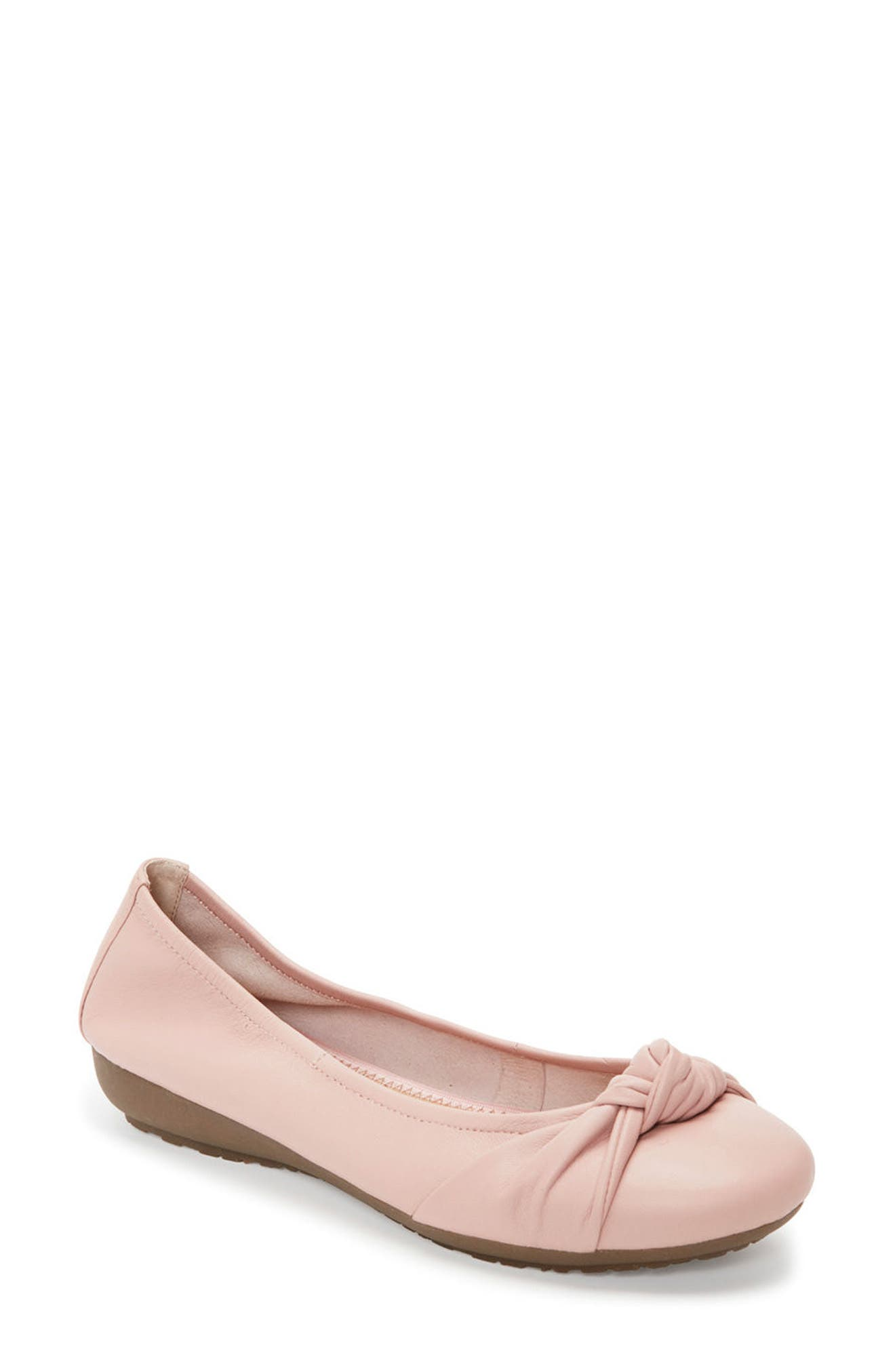 Jaci Flat,                         Main,                         color, Pink Leather