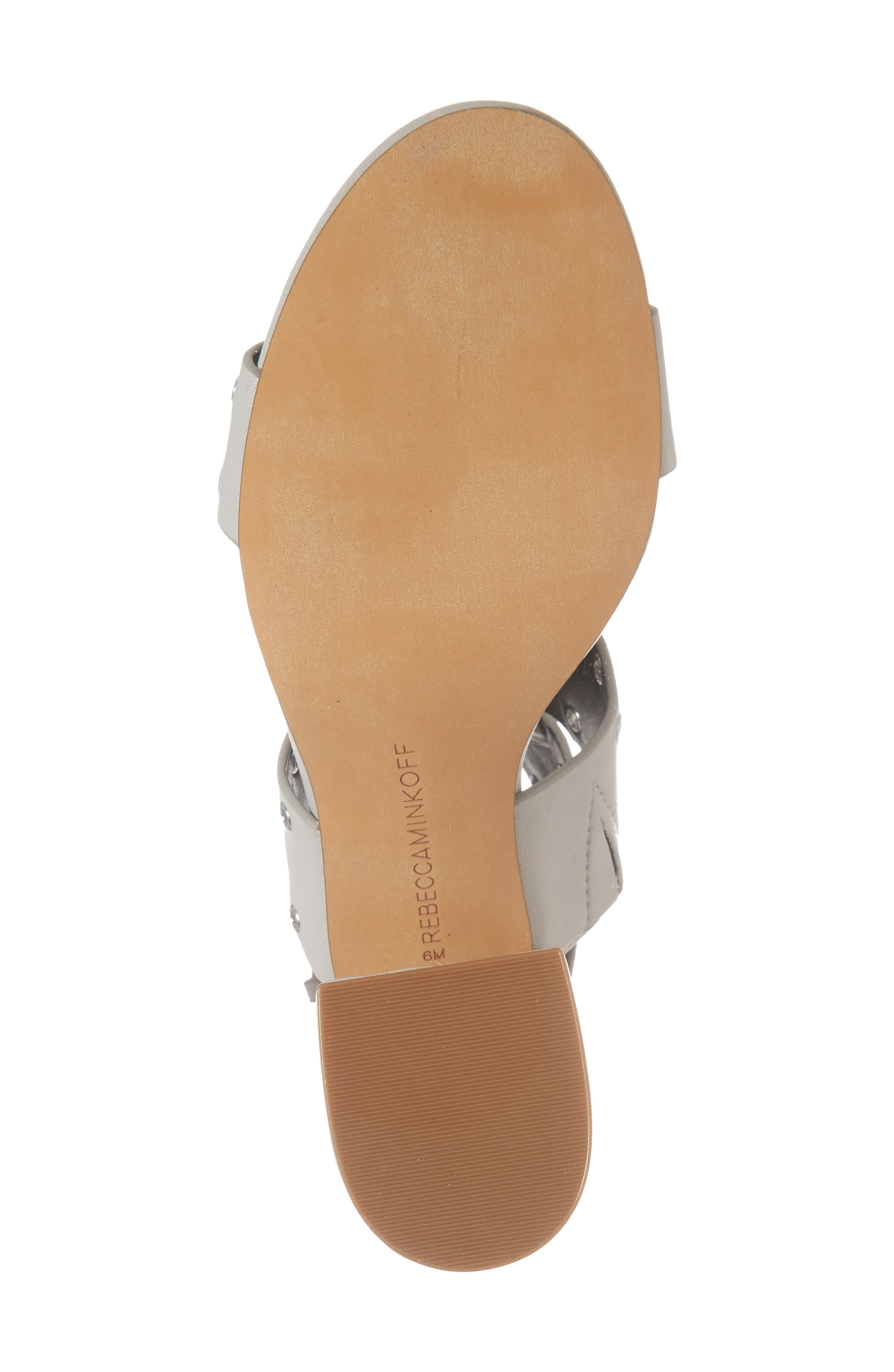 Carter Grommet Sandal,                             Alternate thumbnail 6, color,                             Putty Calf Leather