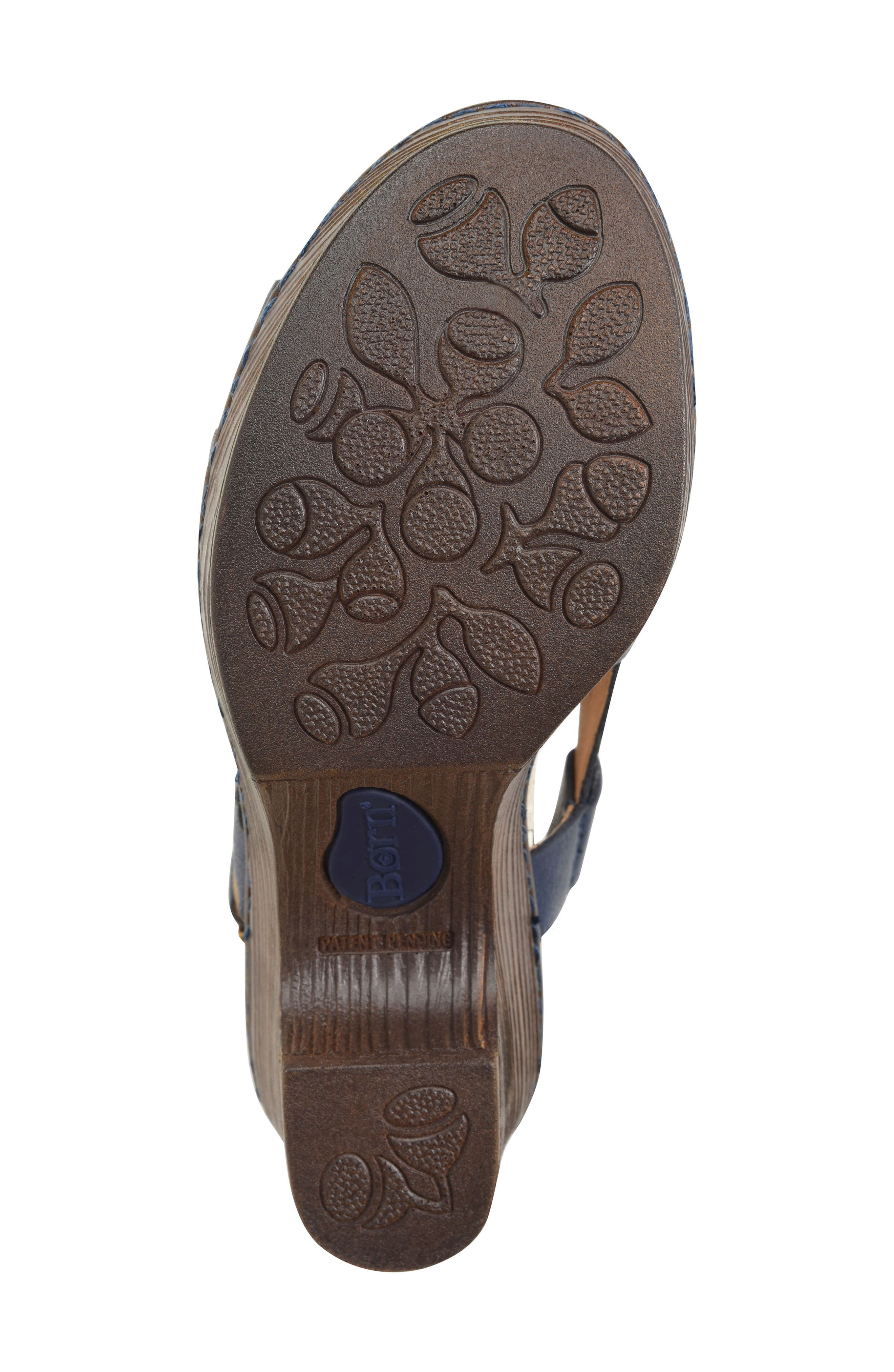 Crevalle Platform Sandal,                             Alternate thumbnail 6, color,                             Navy Leather