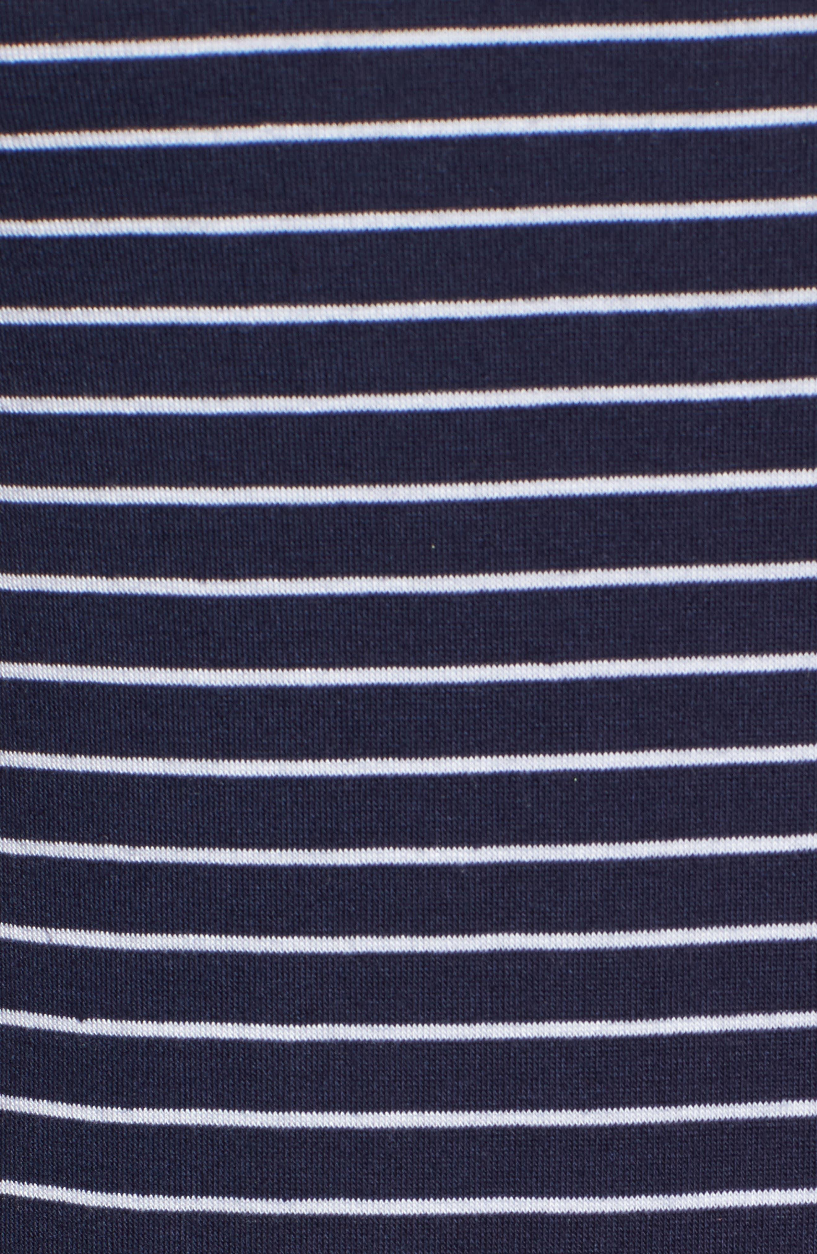 Twist Back Tank Dress,                             Alternate thumbnail 5, color,                             Navy Eclipse Stripe