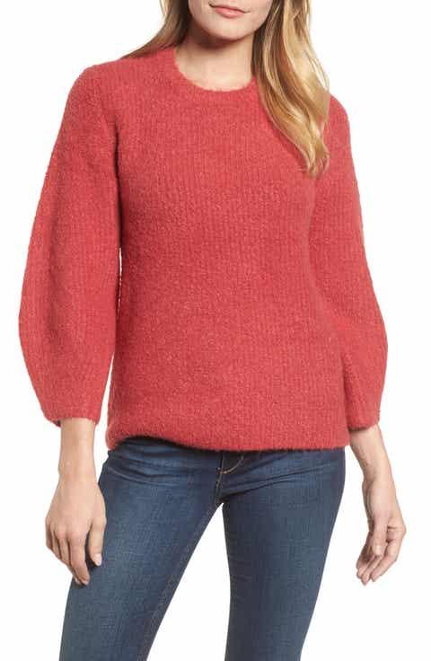 Velvet by Graham & Spencer Blouson Sleeve Bouclé Sweater