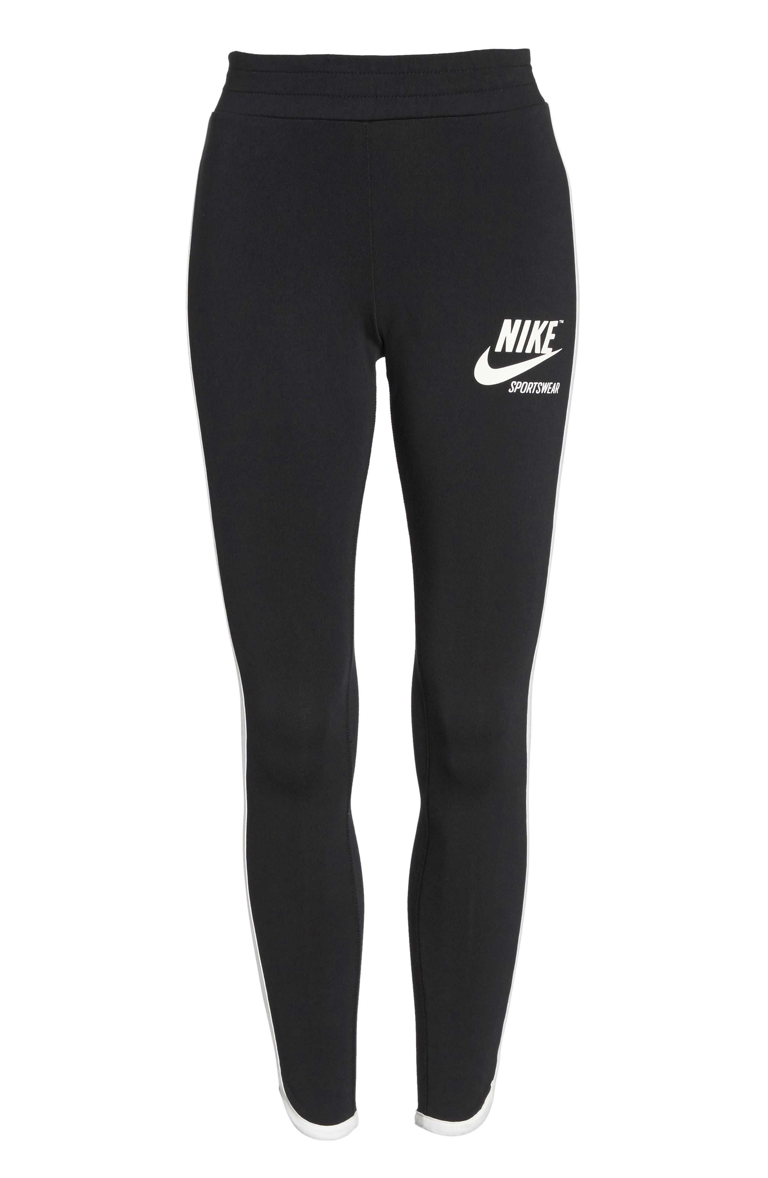 Sportswear Women's Leggings,                             Alternate thumbnail 7, color,                             Black/ Sail
