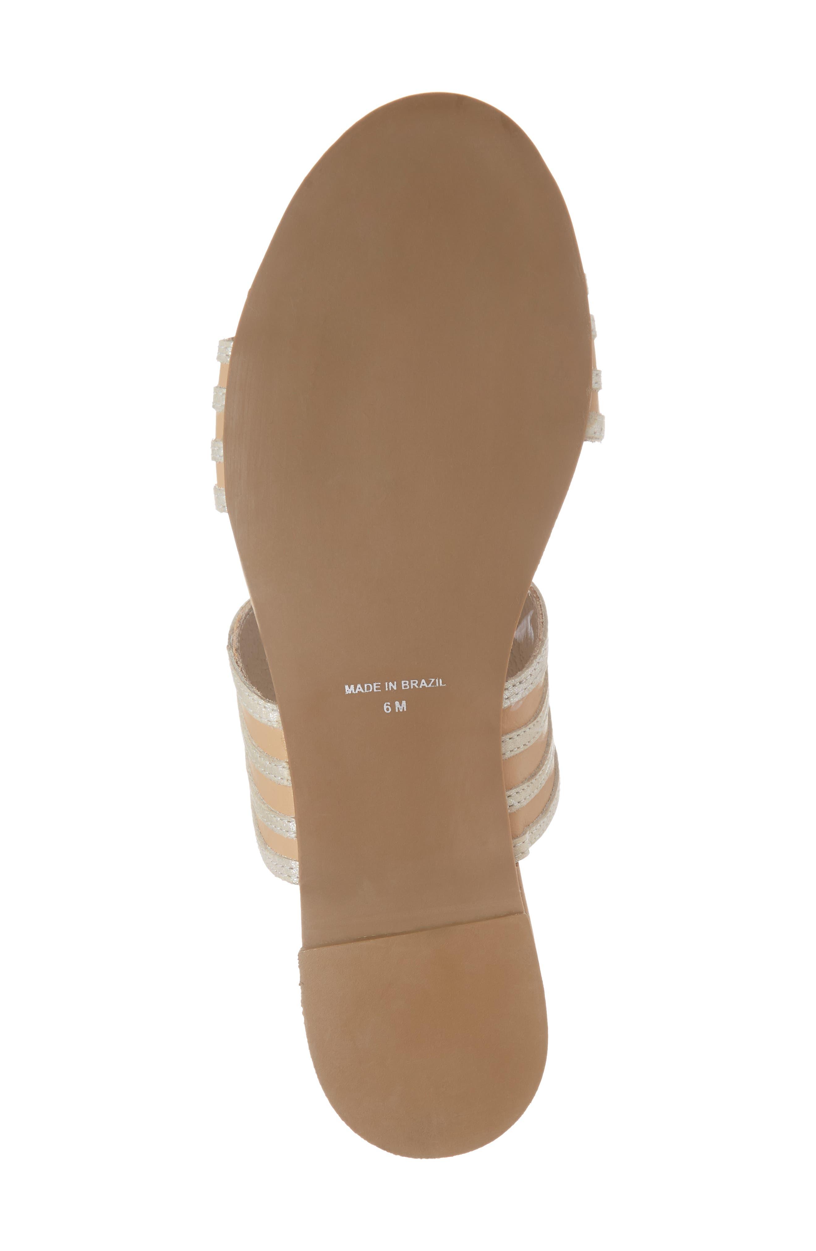 Russo Slide Sandal,                             Alternate thumbnail 6, color,                             Natural/ Silver Leather