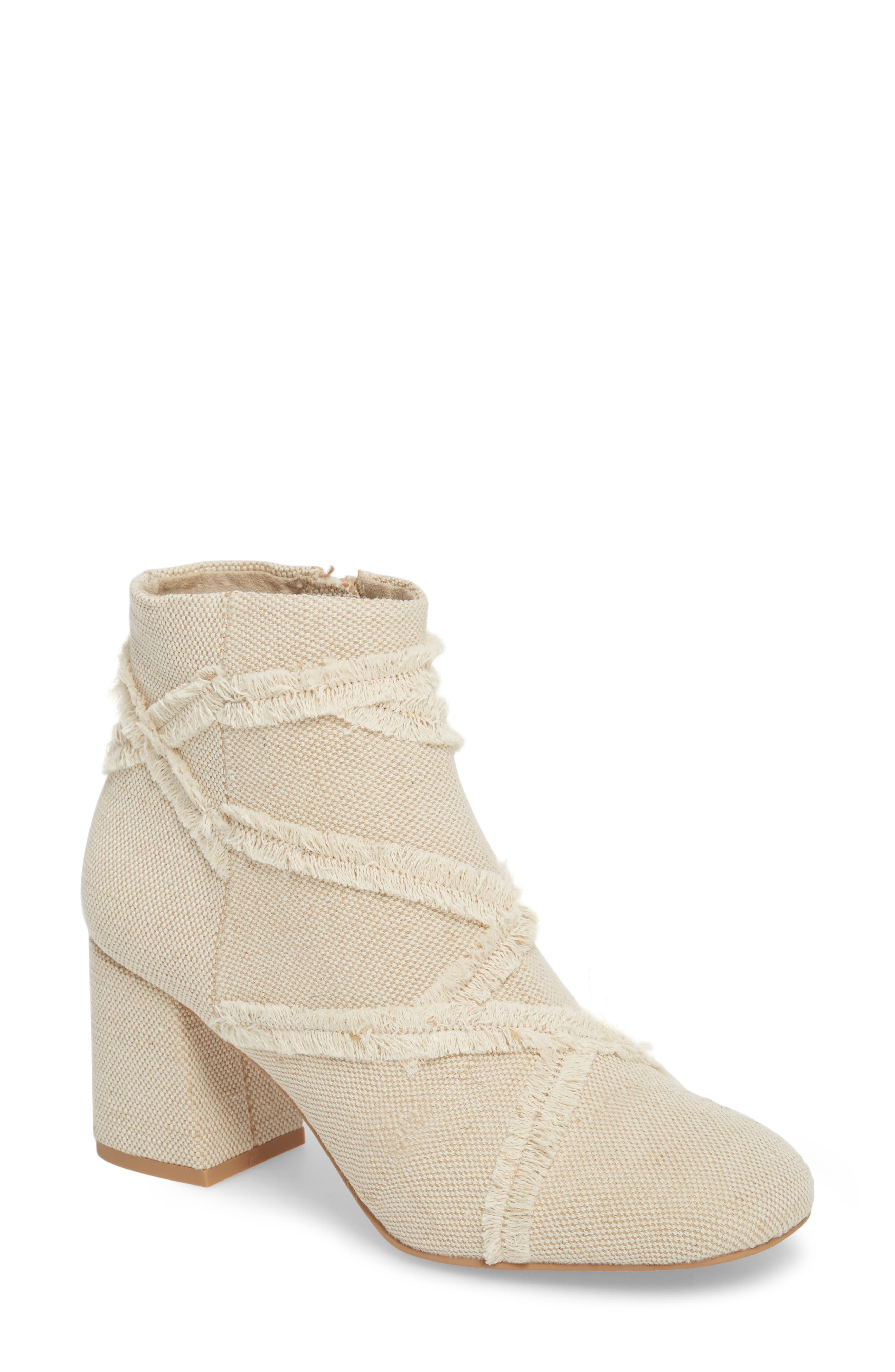Audition II Bootie,                         Main,                         color, Frayed Natural Fabric