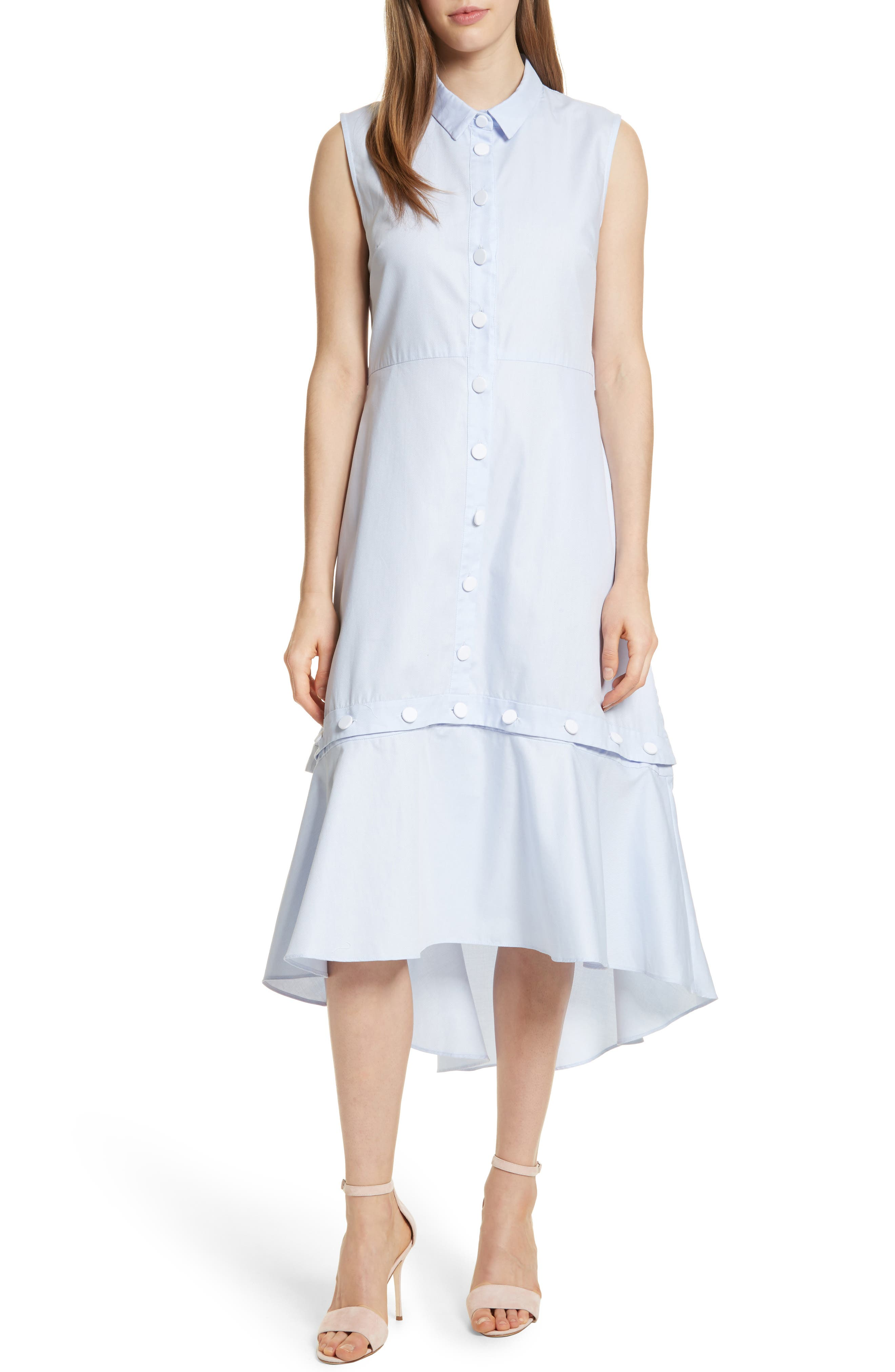 Prose & Poetry Rosen Midi Shirtdress,                         Main,                         color, Bubble Blue