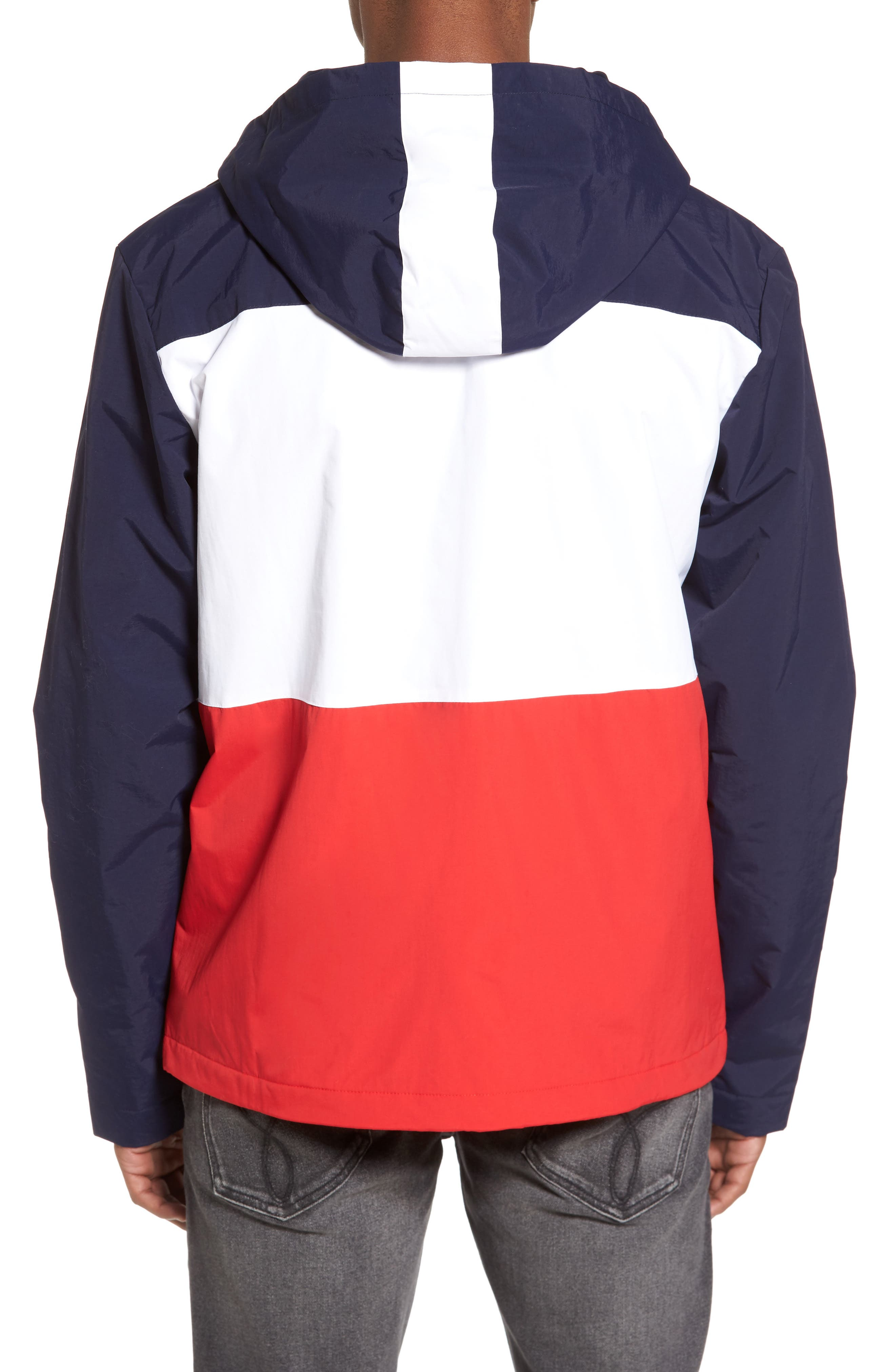 Linden Jacket,                             Alternate thumbnail 2, color,                             Navy/ White/ Chinese Red