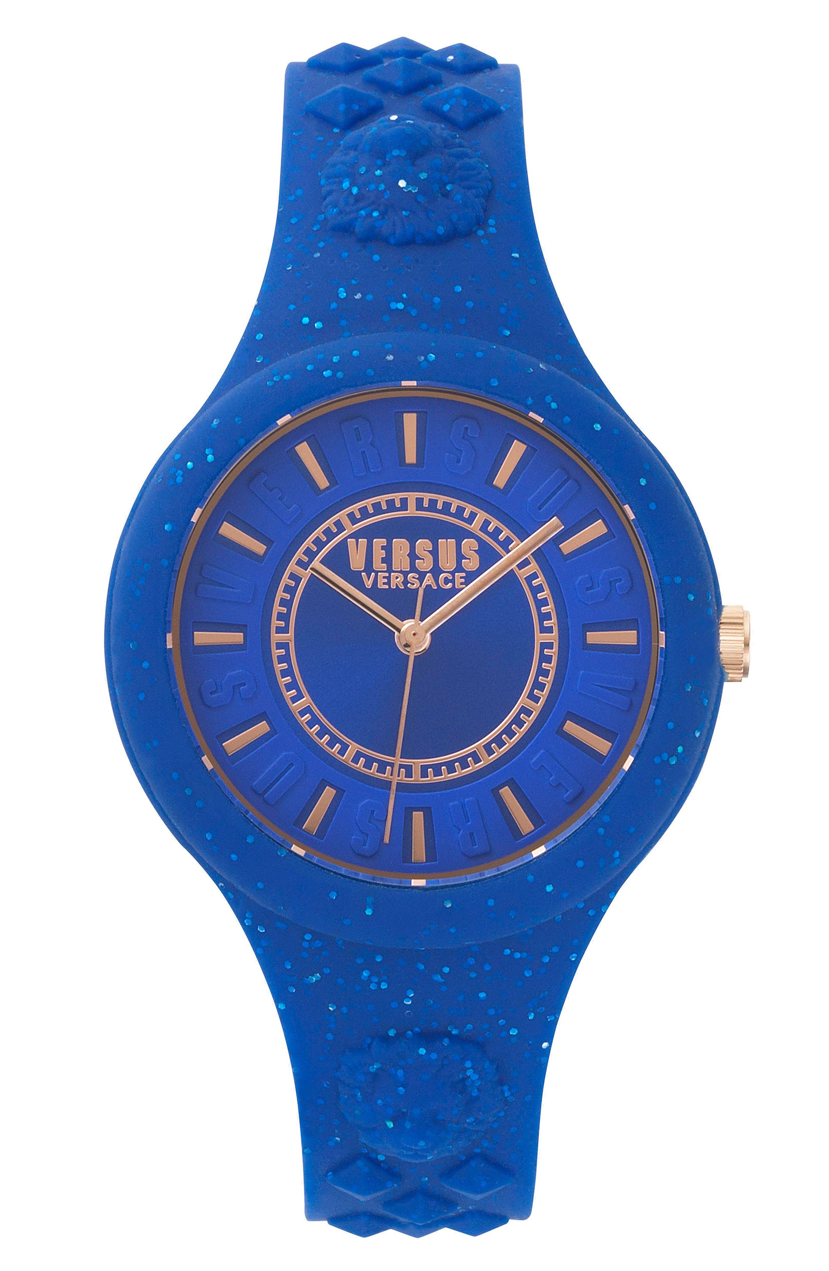 Main Image - VERSUS by Versace Fire Island Silicone Strap Watch, 39mm