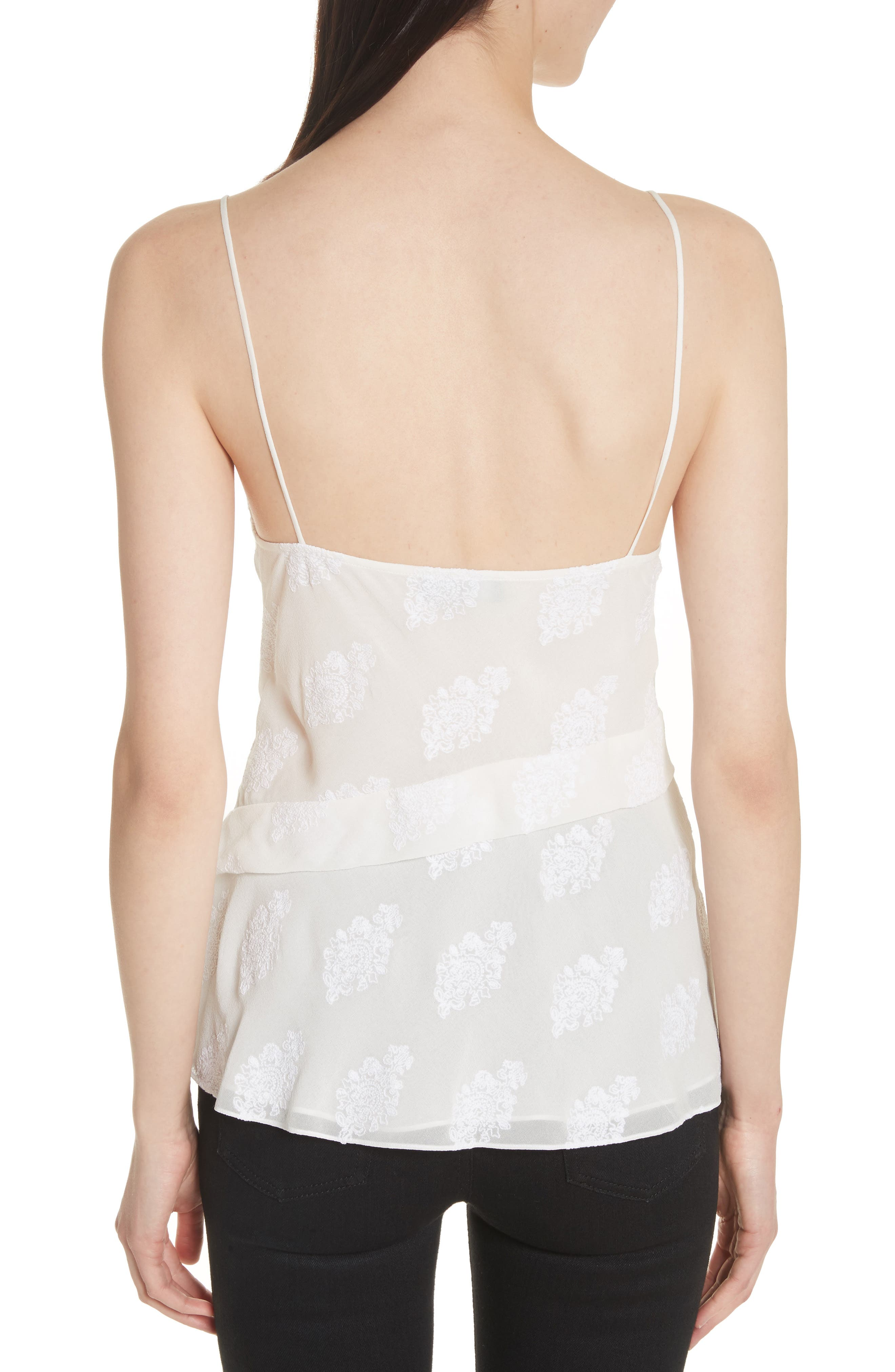 C2.Co Crossover Camisole,                             Alternate thumbnail 2, color,                             White/ White