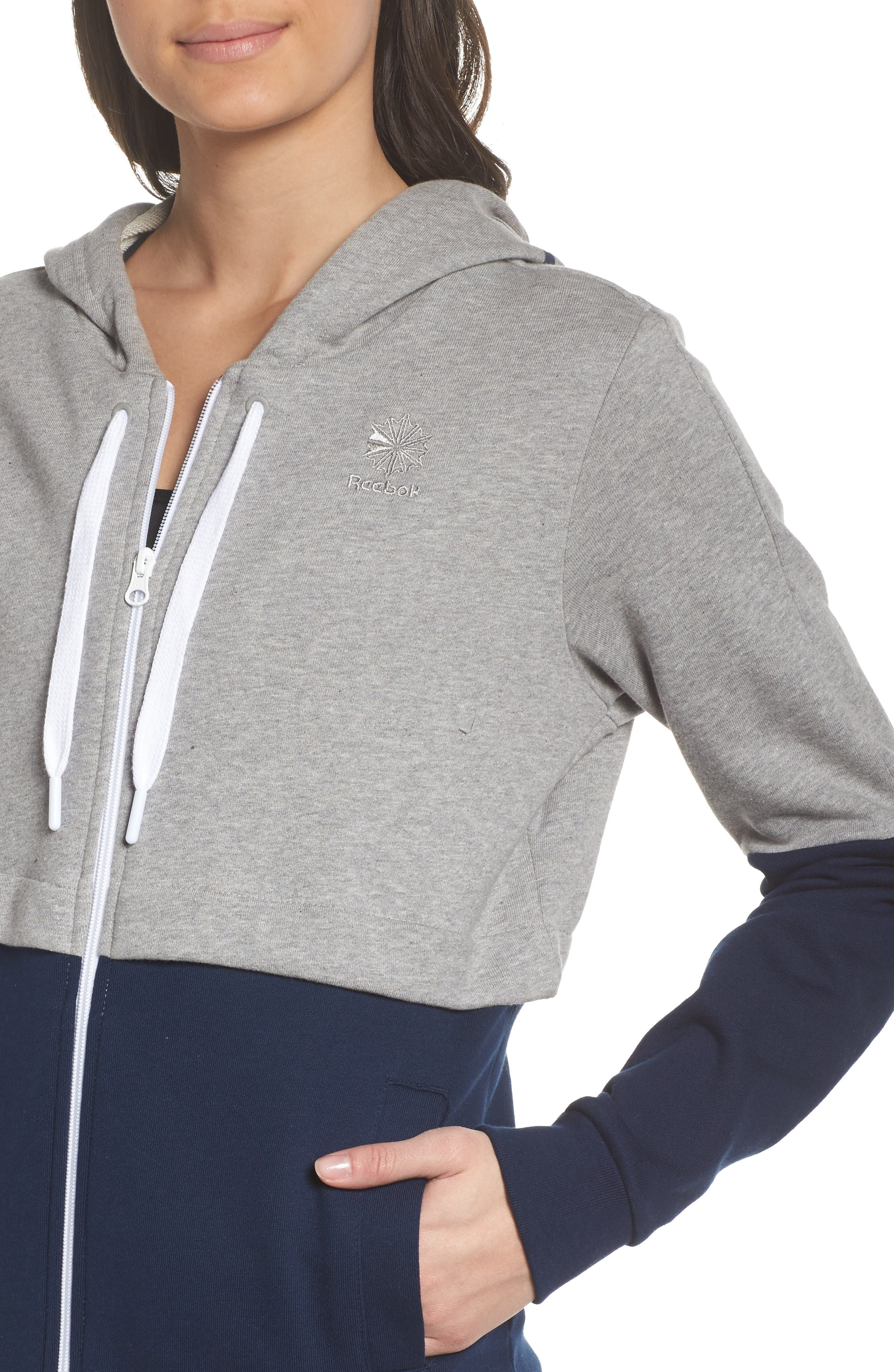 Classics French Terry Zip Hoodie,                             Alternate thumbnail 4, color,                             Medium Grey Heather
