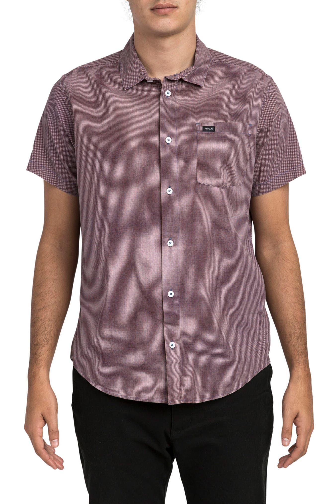 No Name Woven Shirt,                         Main,                         color, Terracotta