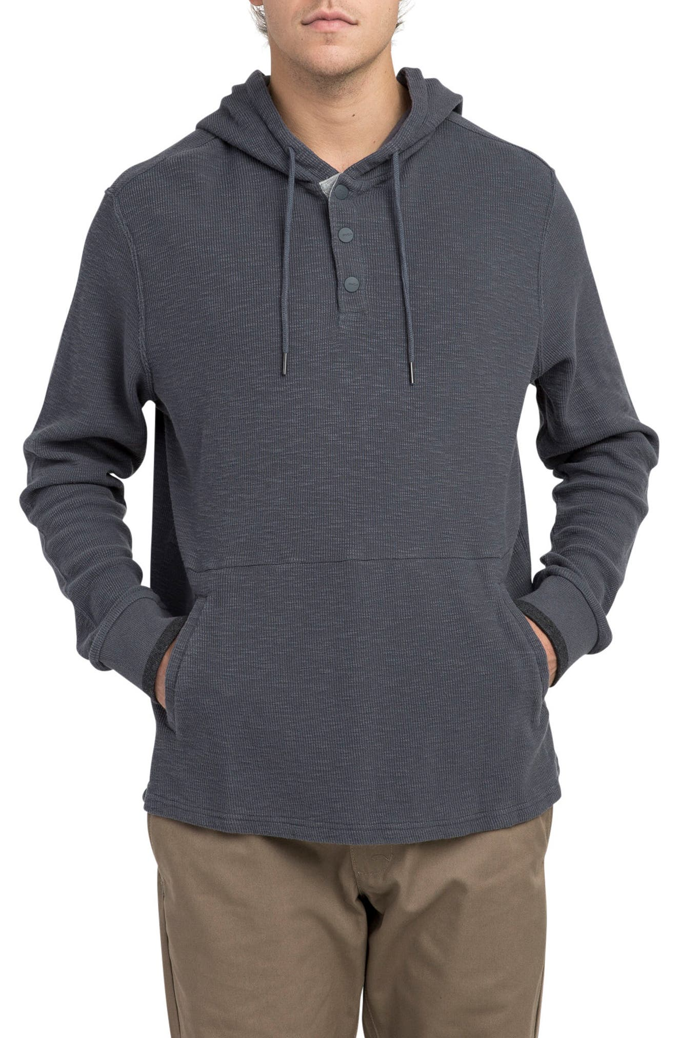 Copa Hooded Henley Pullover,                         Main,                         color, Slate
