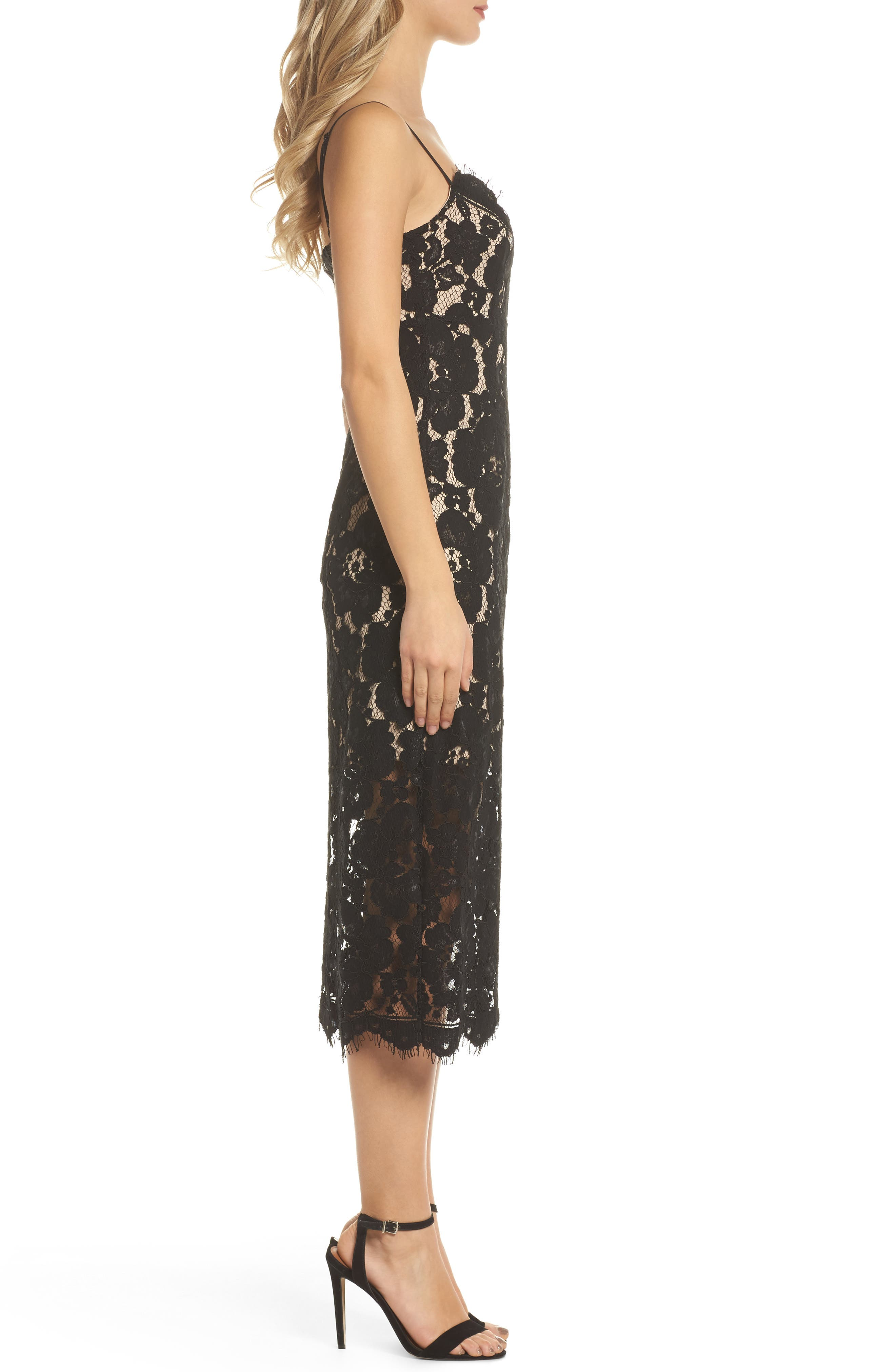 Alternate Image 3  - NSR Lace Midi Slipdress