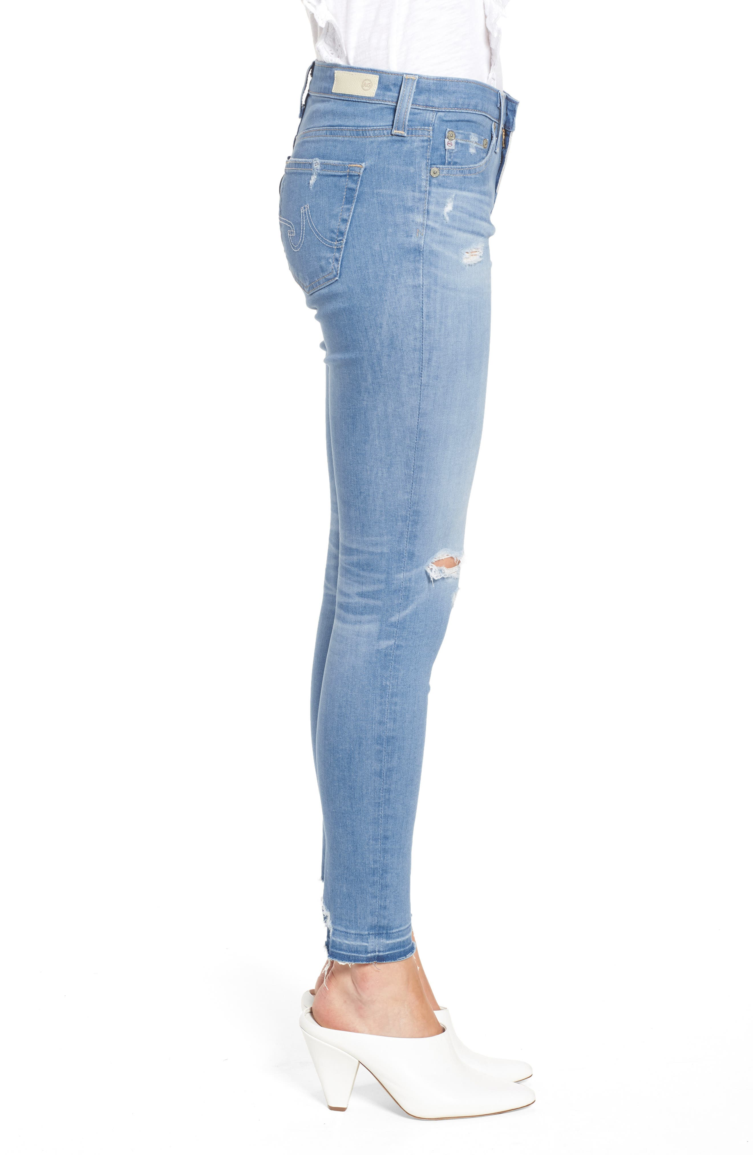 The Legging Ankle Super Skinny Jeans,                             Alternate thumbnail 3, color,                             20 Years Freshwater Destructed