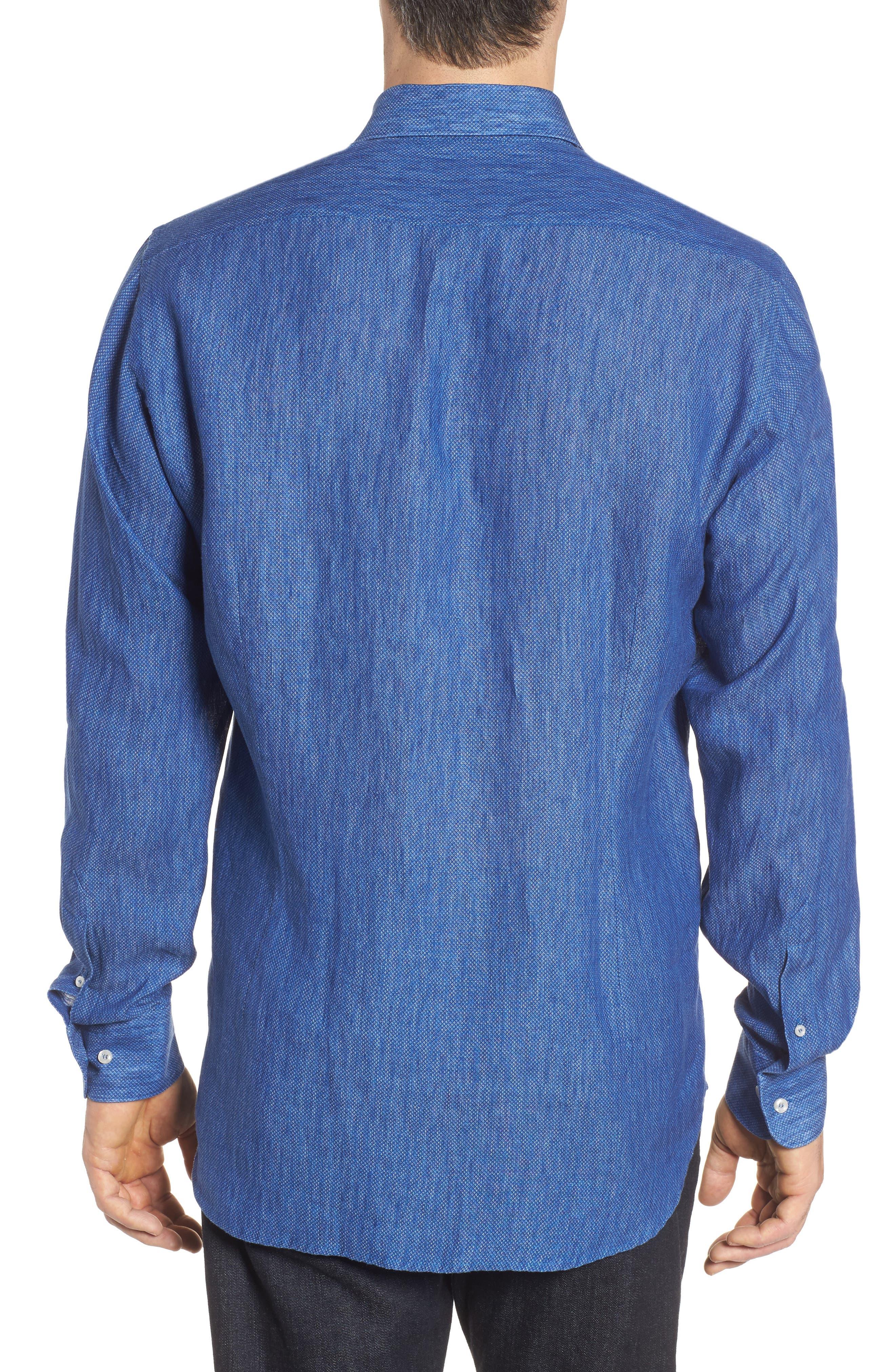 Paul&Shark Regular Fit Piqué Sport Shirt,                             Alternate thumbnail 2, color,                             Blue