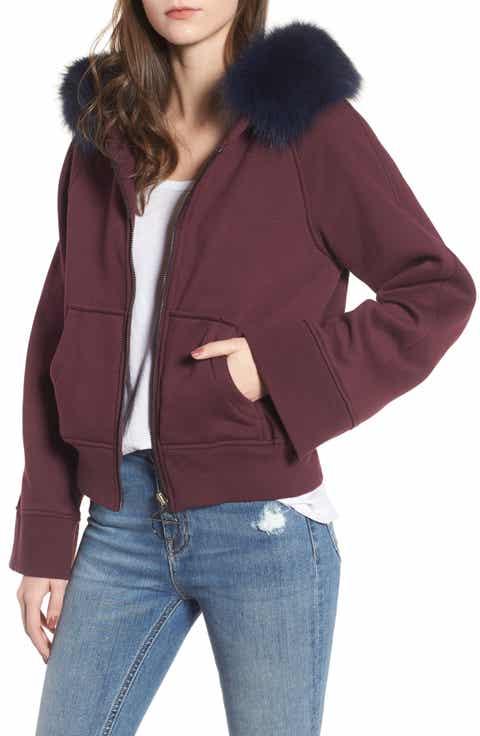 Women S Purple Fur Coats Amp Faux Fur Coats Nordstrom