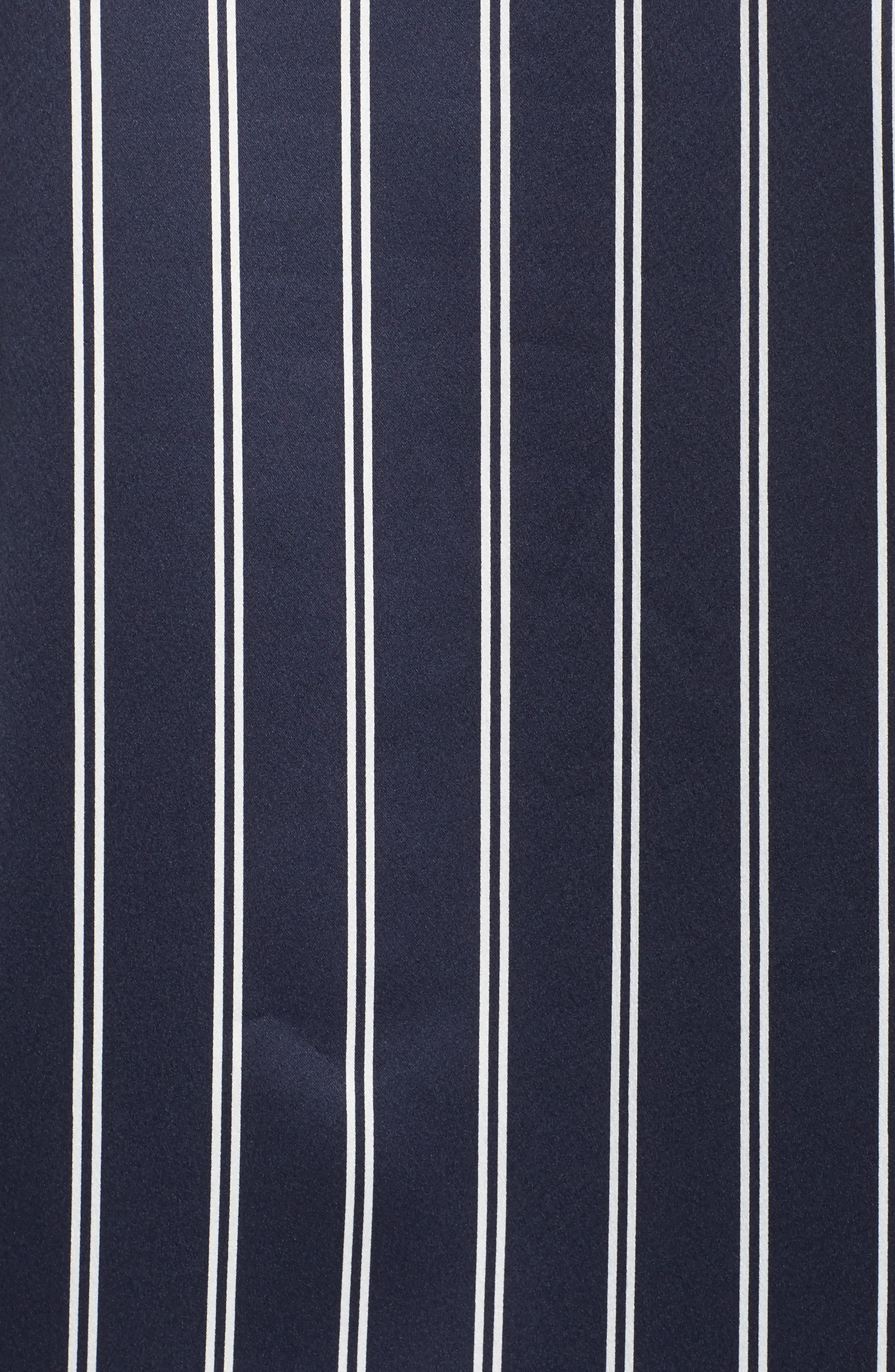 Satin Pajamas,                             Alternate thumbnail 5, color,                             Navy Stripe