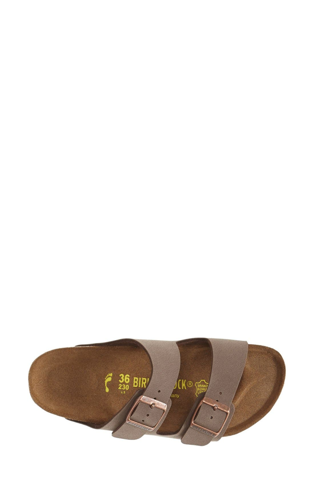 Arizona Birko-Flor Sandal,                             Alternate thumbnail 3, color,                             Mocha