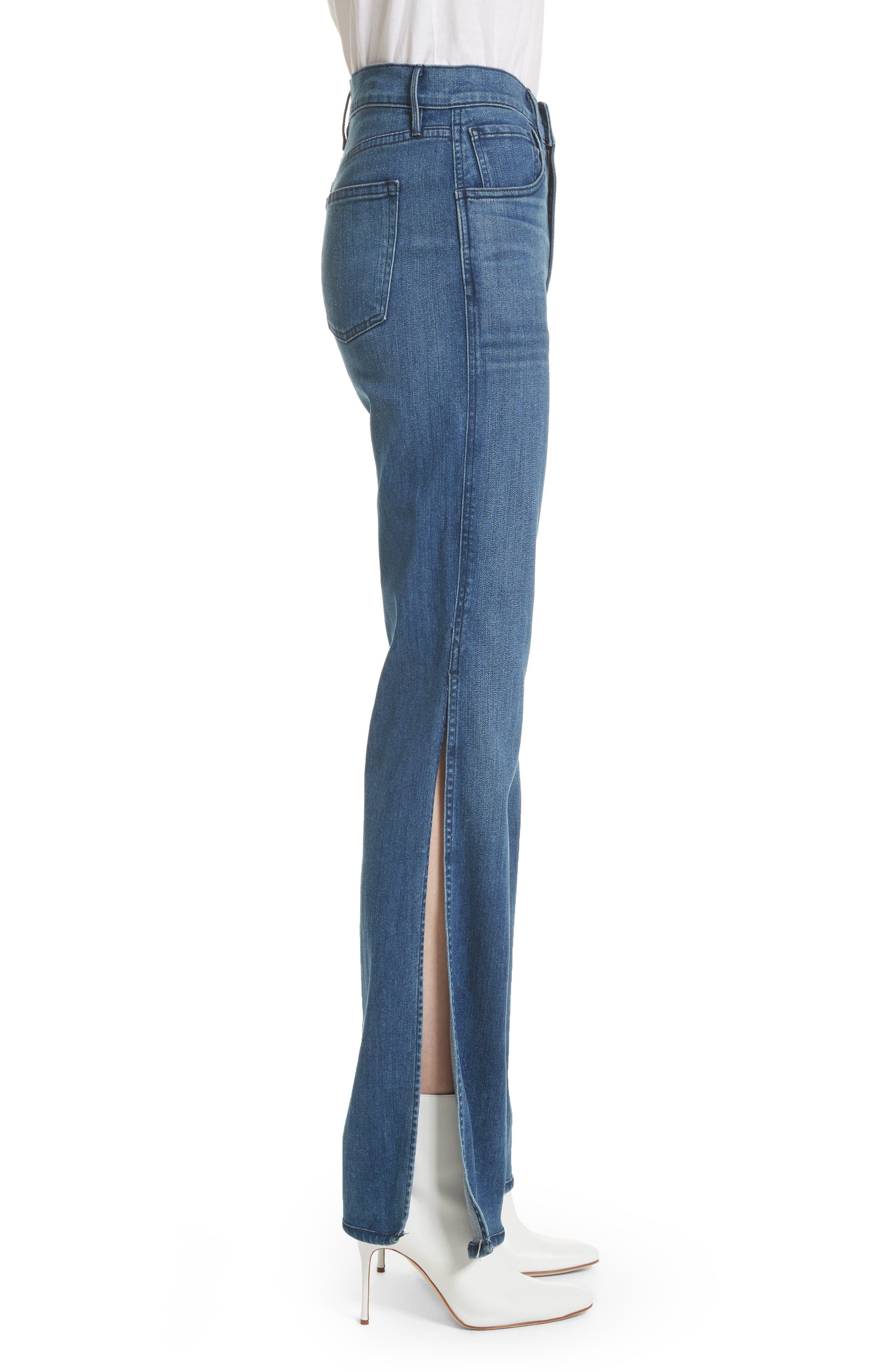 W4 Adeline High Waist Split Flare Jeans,                             Alternate thumbnail 3, color,                             Leia