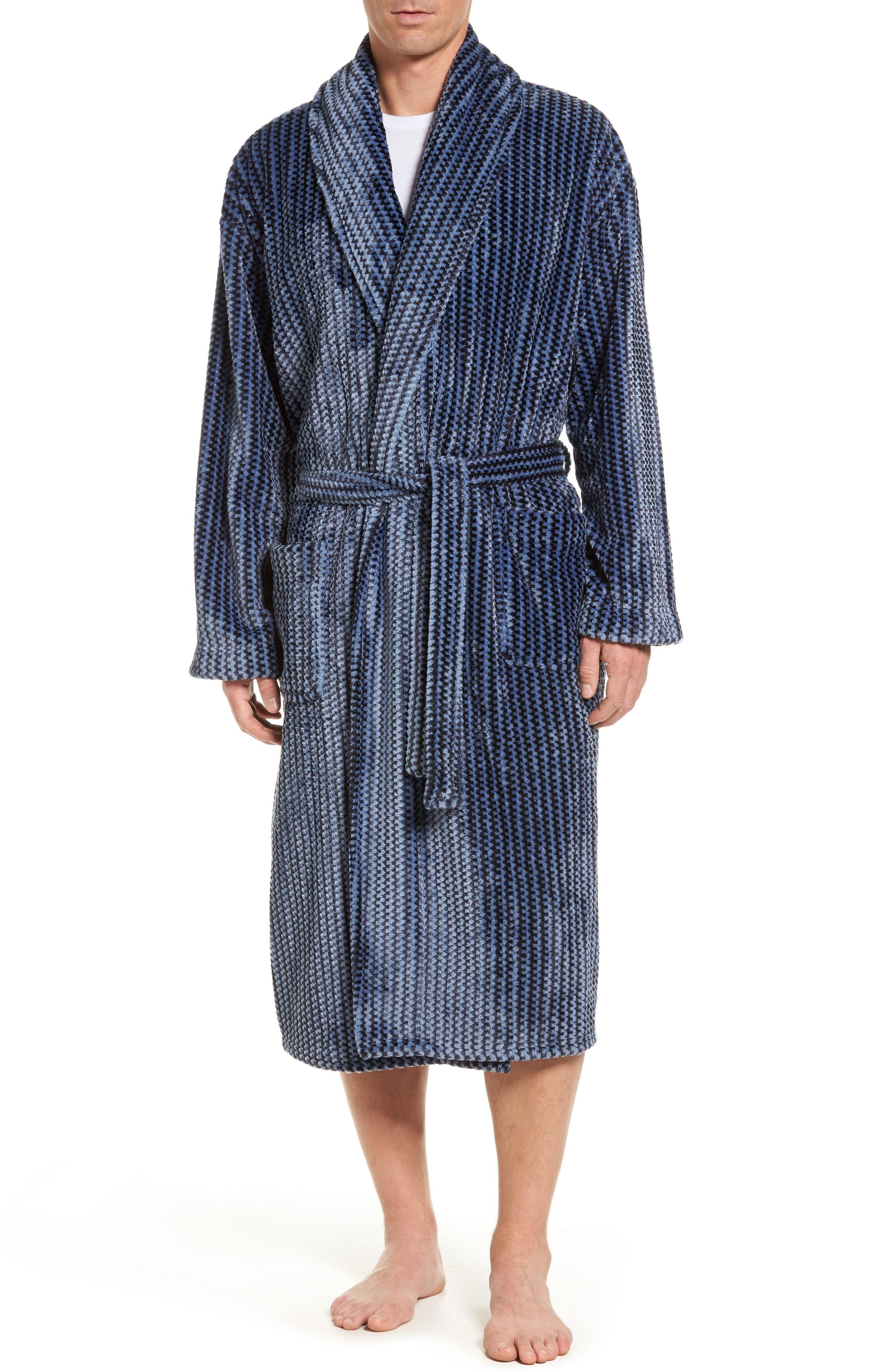 Majestic Metro Marled Robe In Light Blue  2e1904455